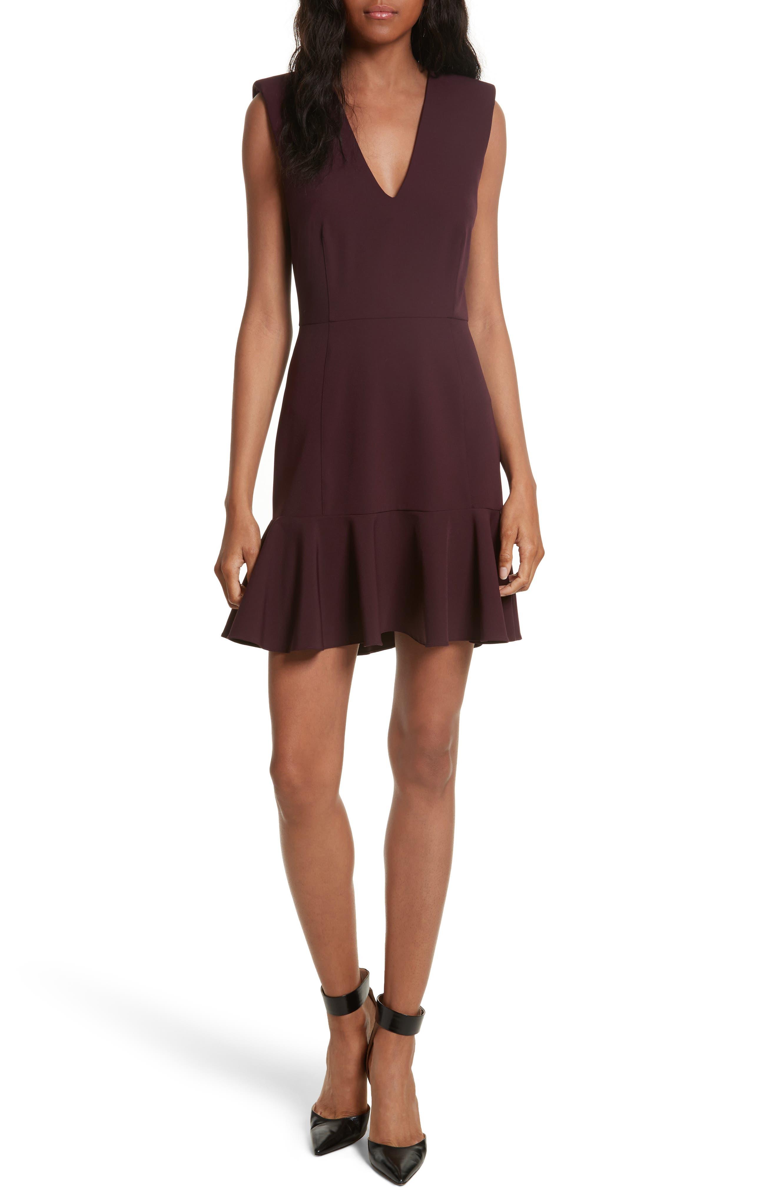 VERONICA BEARD Scarlet Flounce Dress