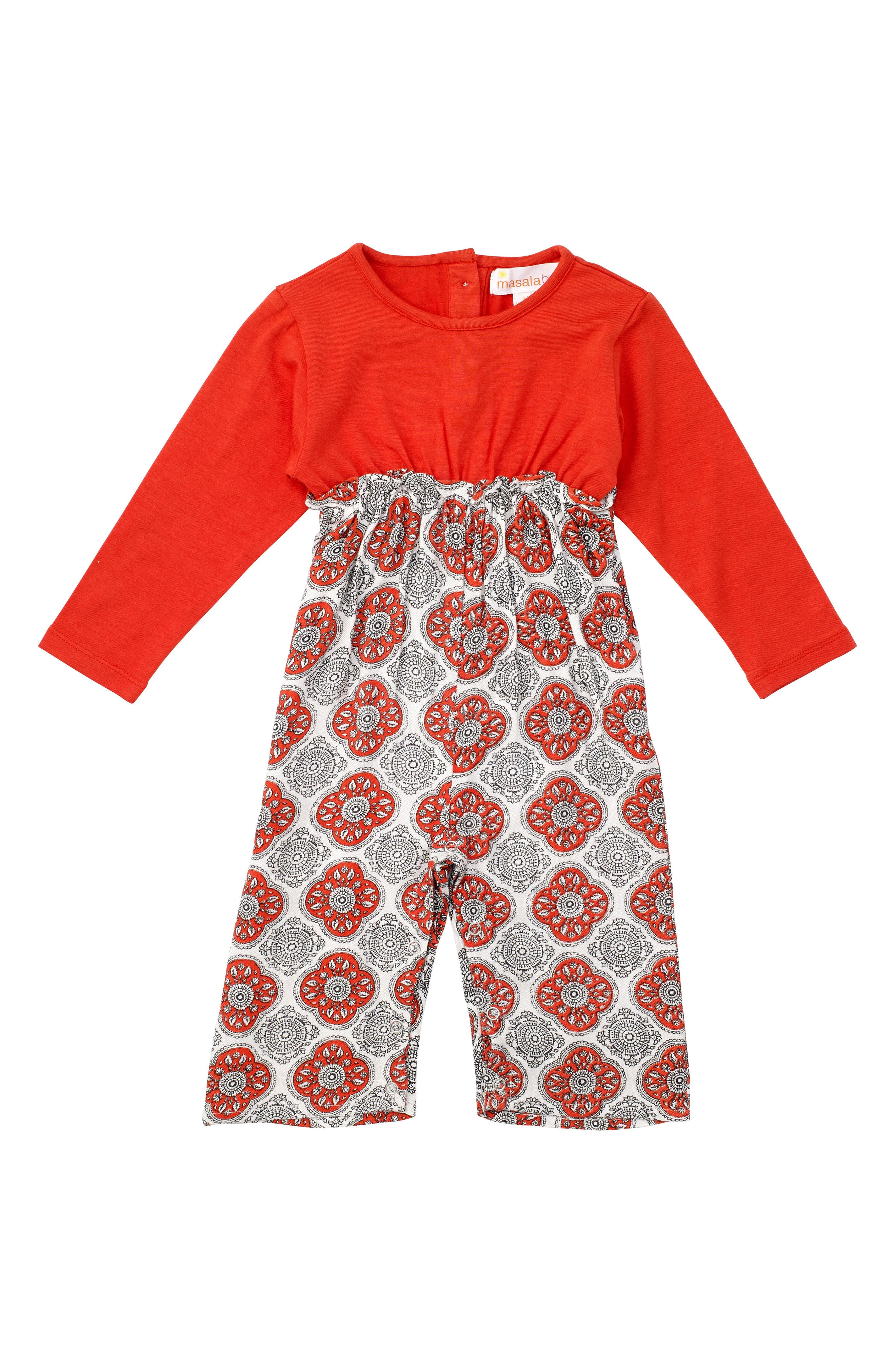 Alternate Image 1 Selected - Masalababy Chelsea Romper (Baby Girls)