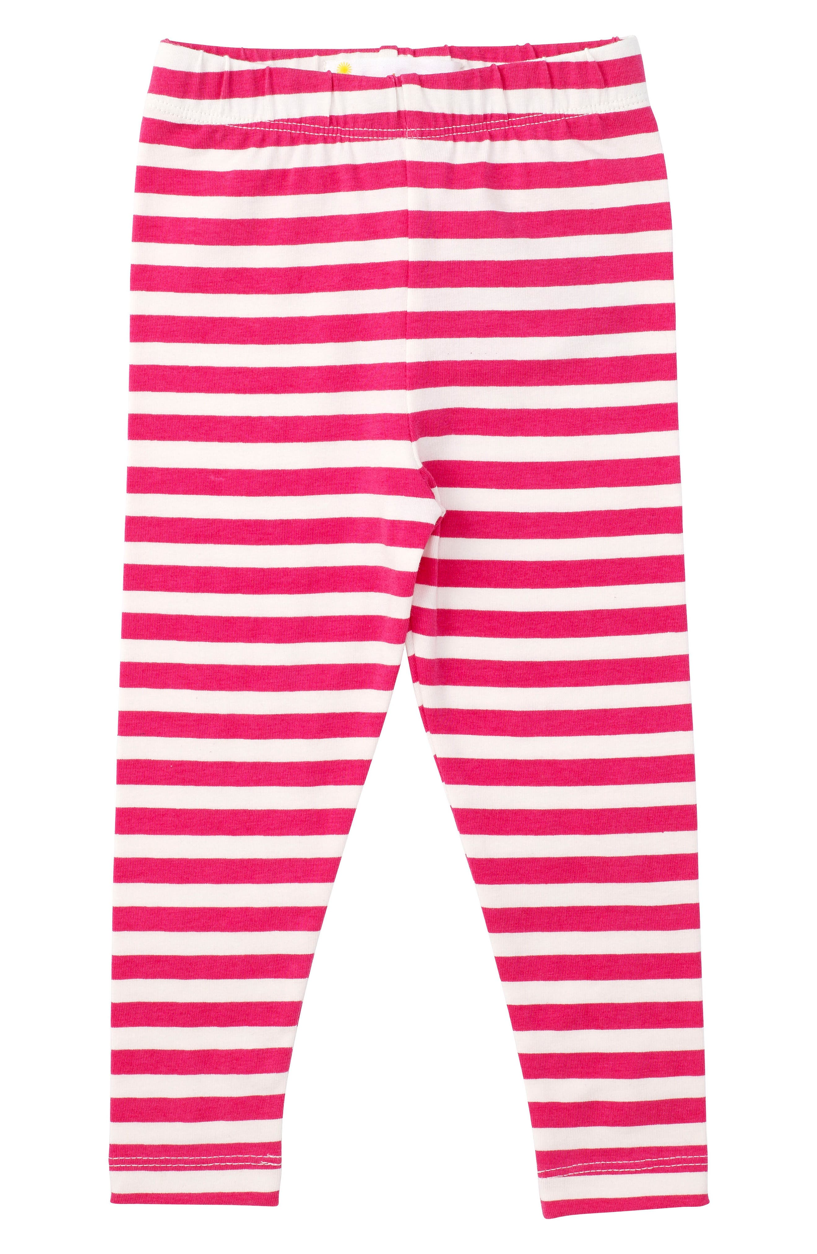 Stripe Stretch Organic Cotton Leggings,                         Main,                         color, Pink