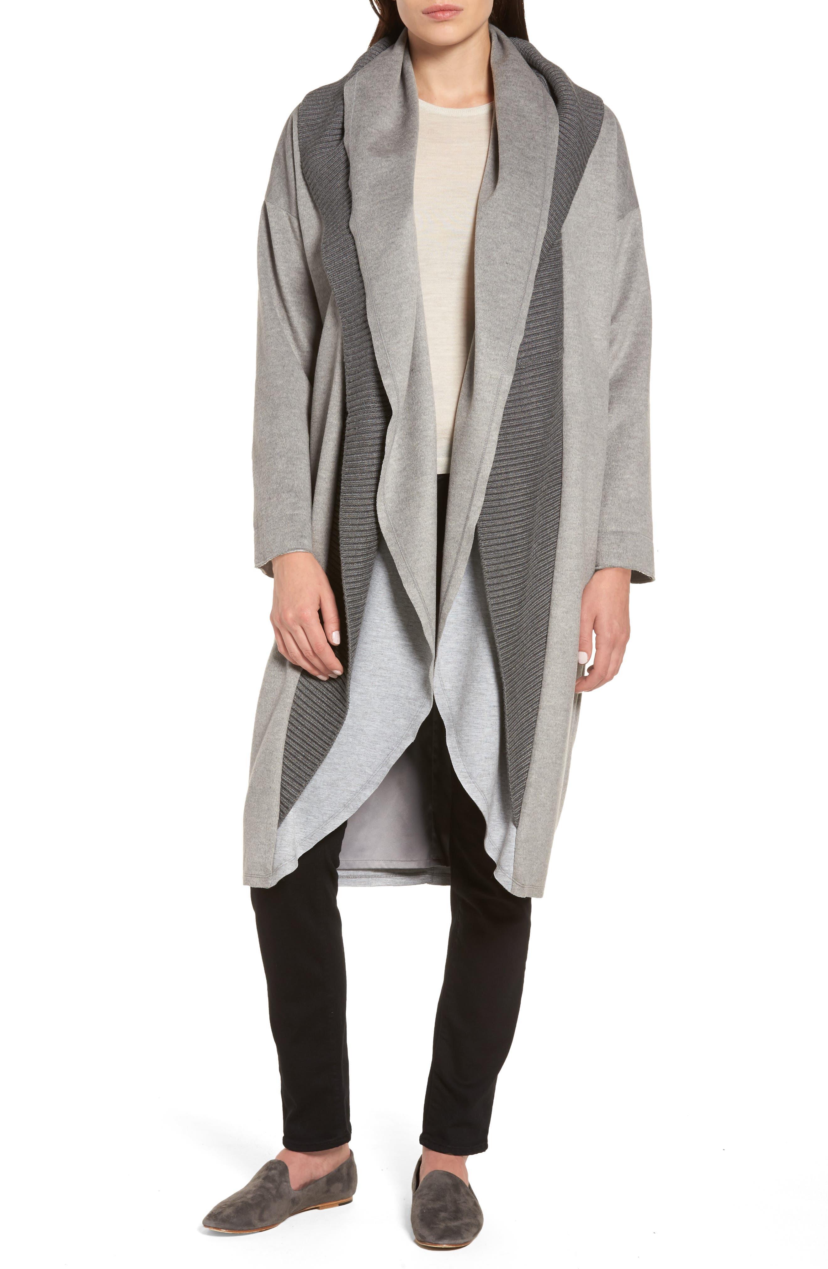 Main Image - Sosken Brandy Stone Grey Duster Coat