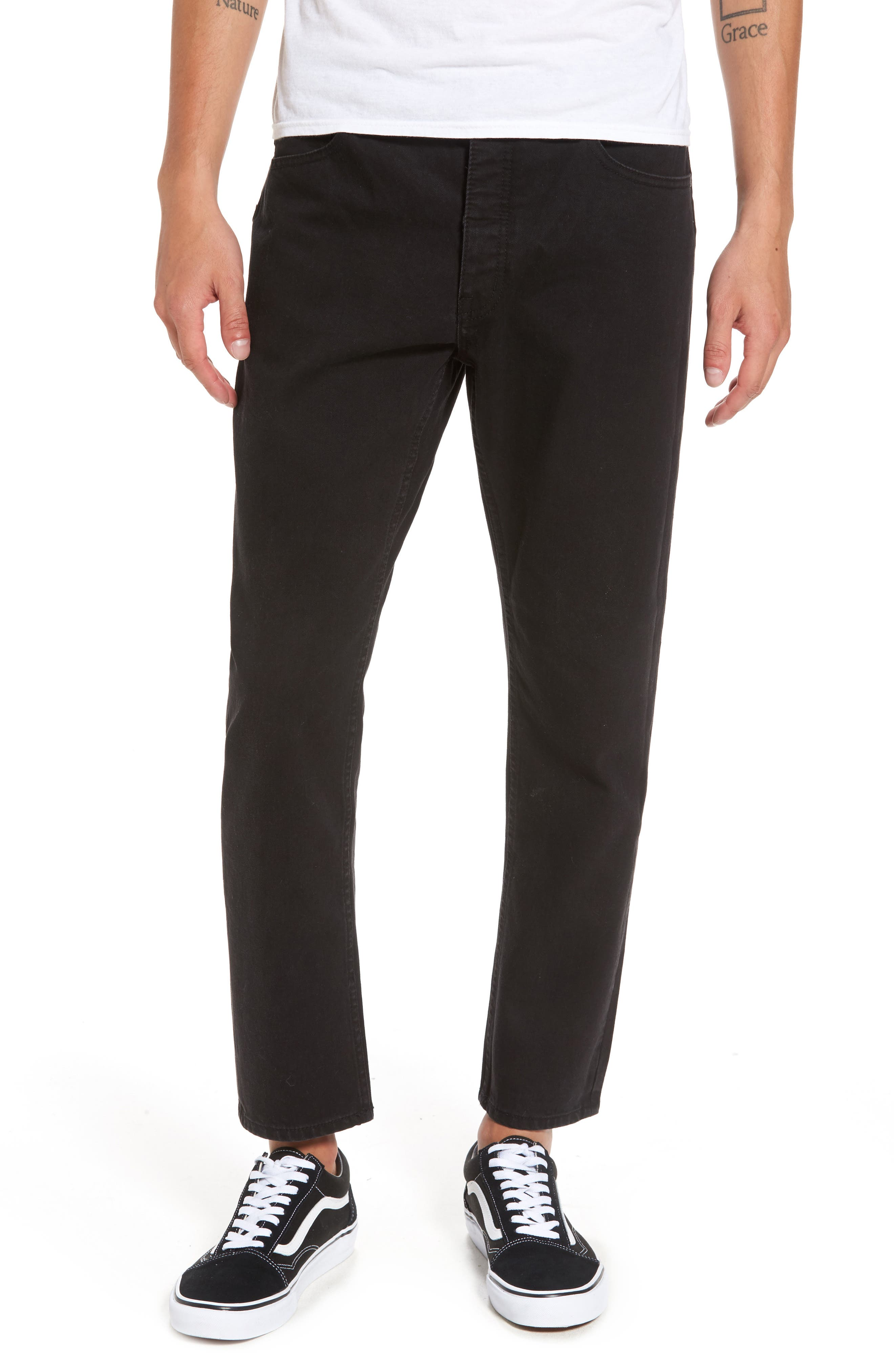 In Law Skinny Fit Jeans,                             Main thumbnail 1, color,                             Black