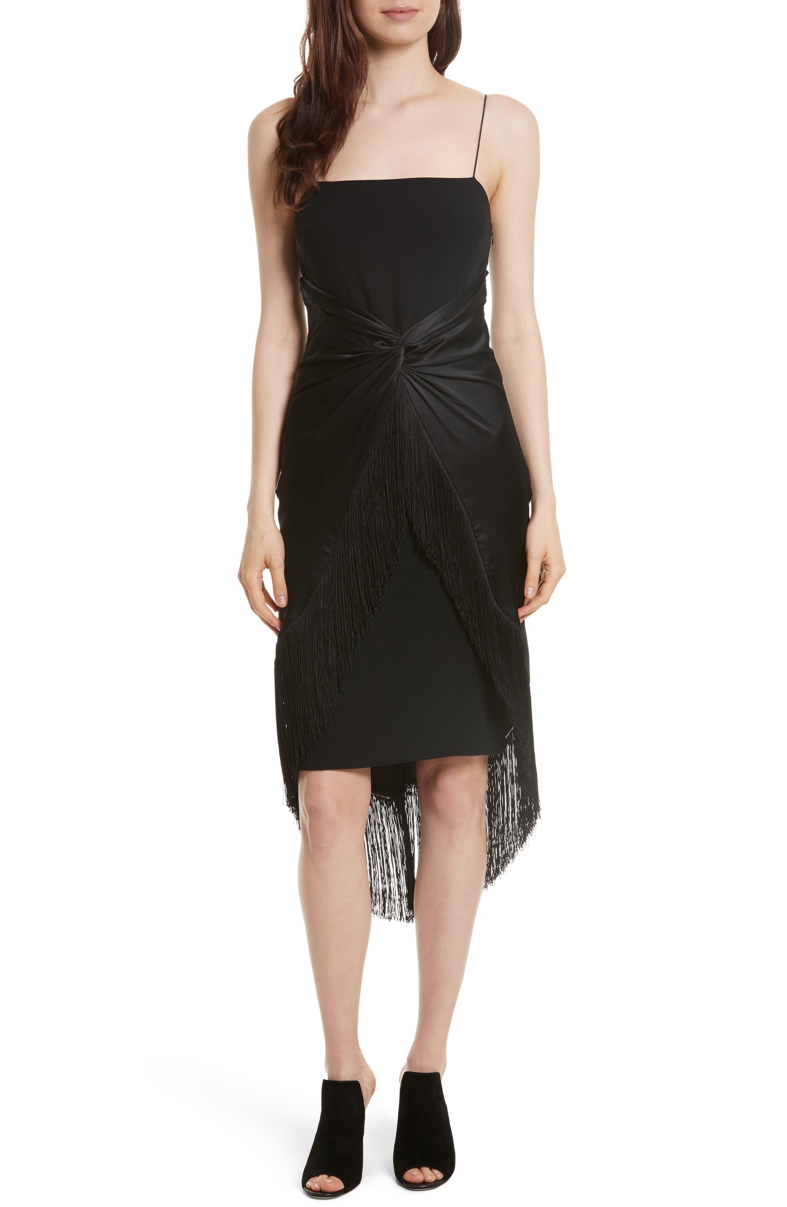 Cinq à Sept Yolette Fringe High/Low Dress