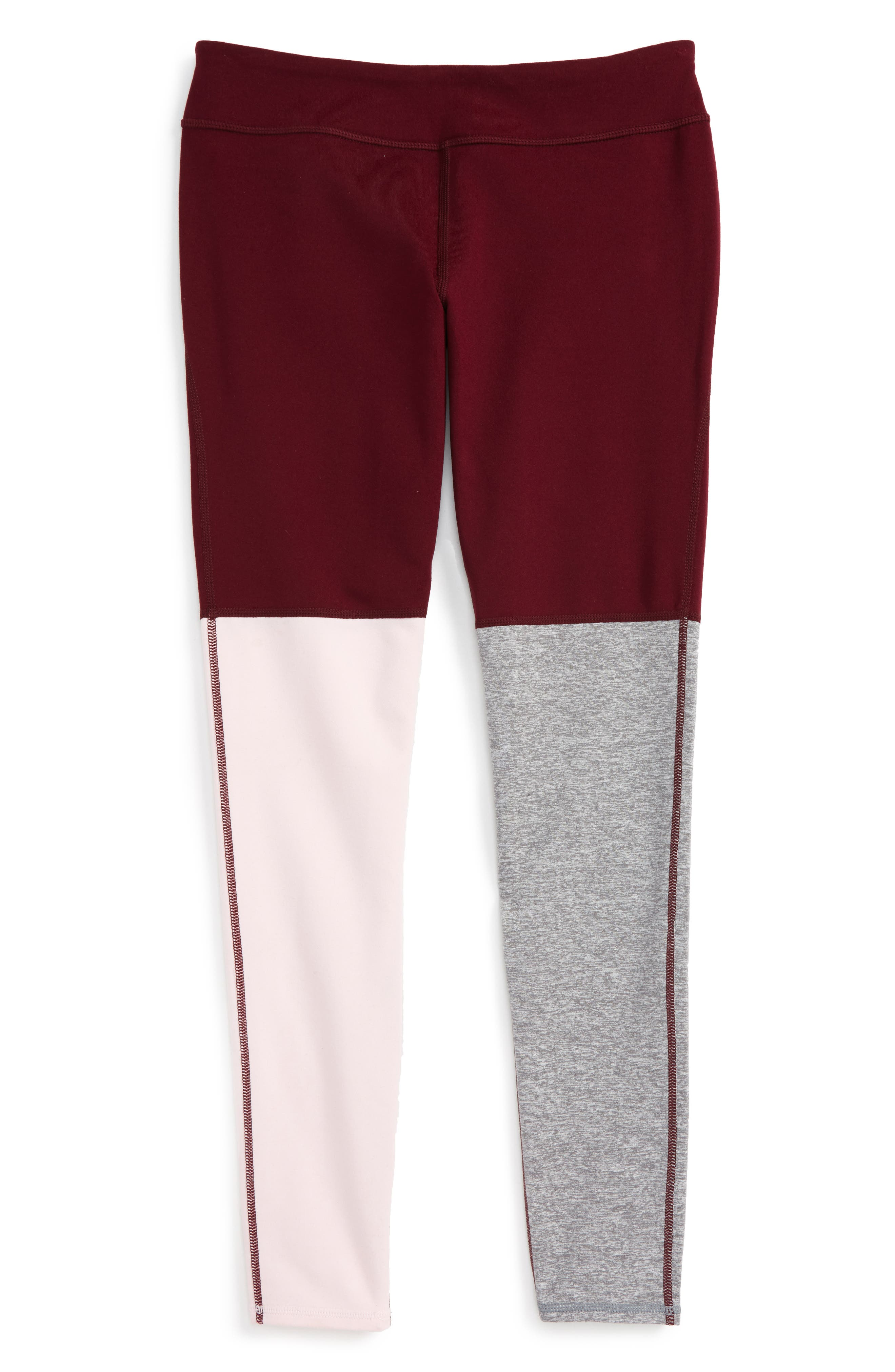 Zella Girl Tricolor Performance Leggings (Little Girls & Big Girls)