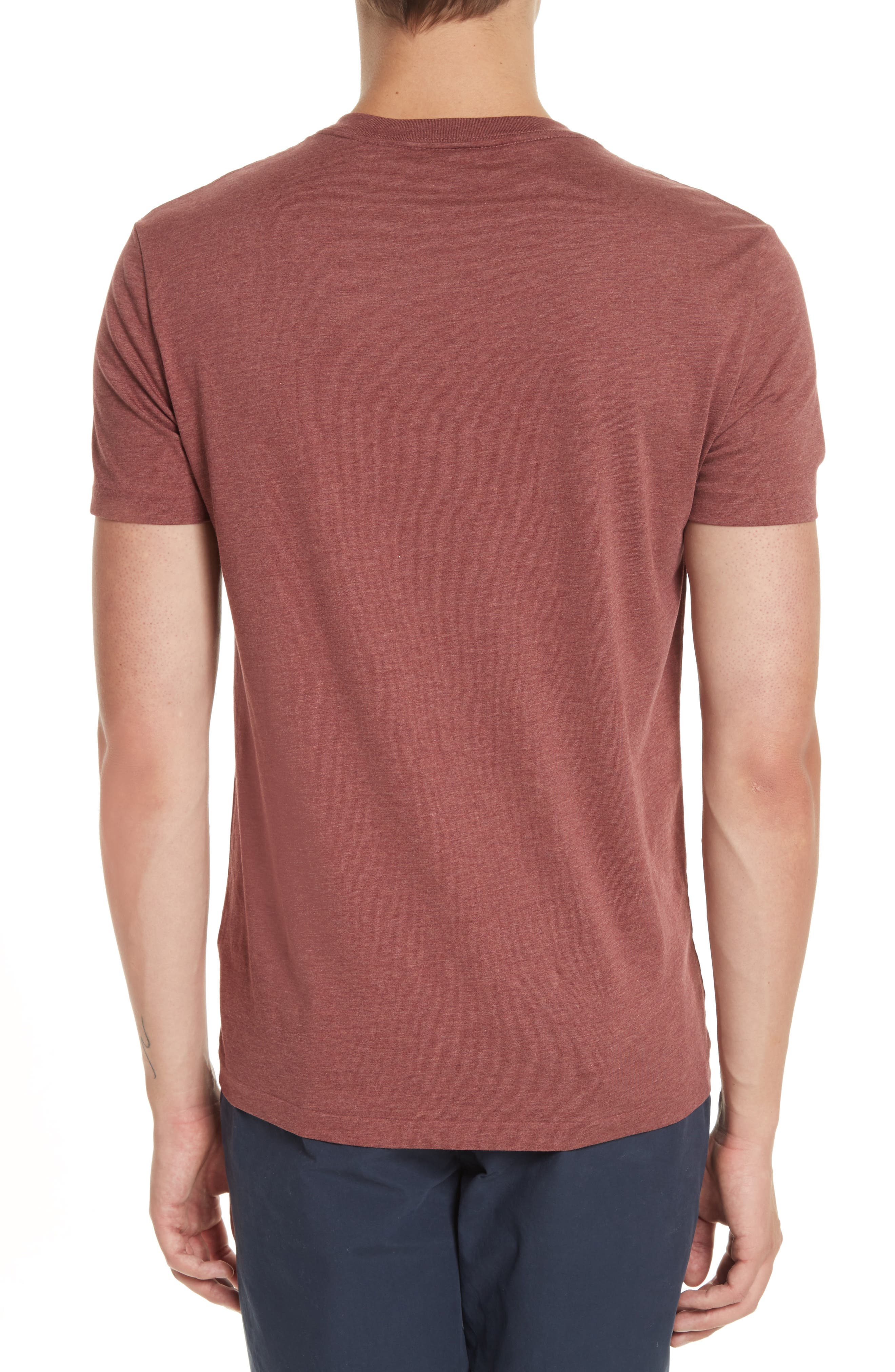 Lindon Cotton T-Shirt,                             Alternate thumbnail 2, color,                             Russet Melange