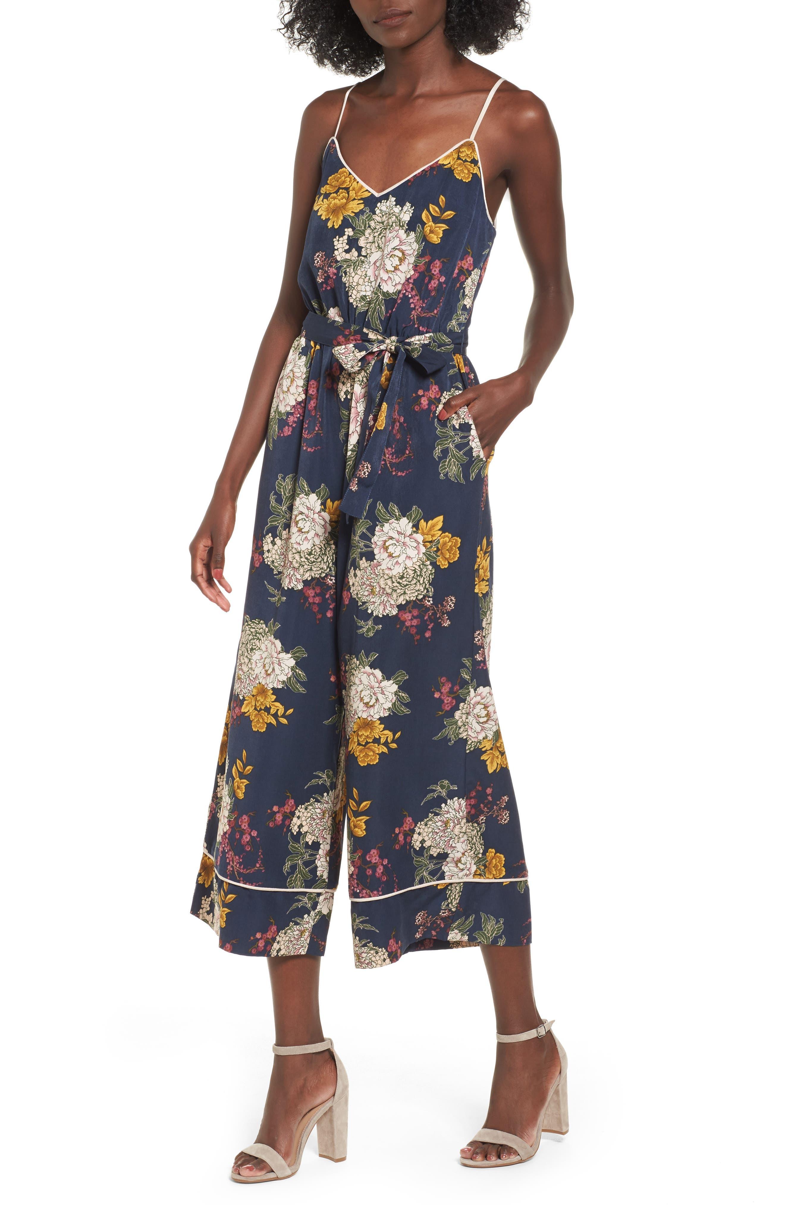 LEITH Floral Jumpsuit