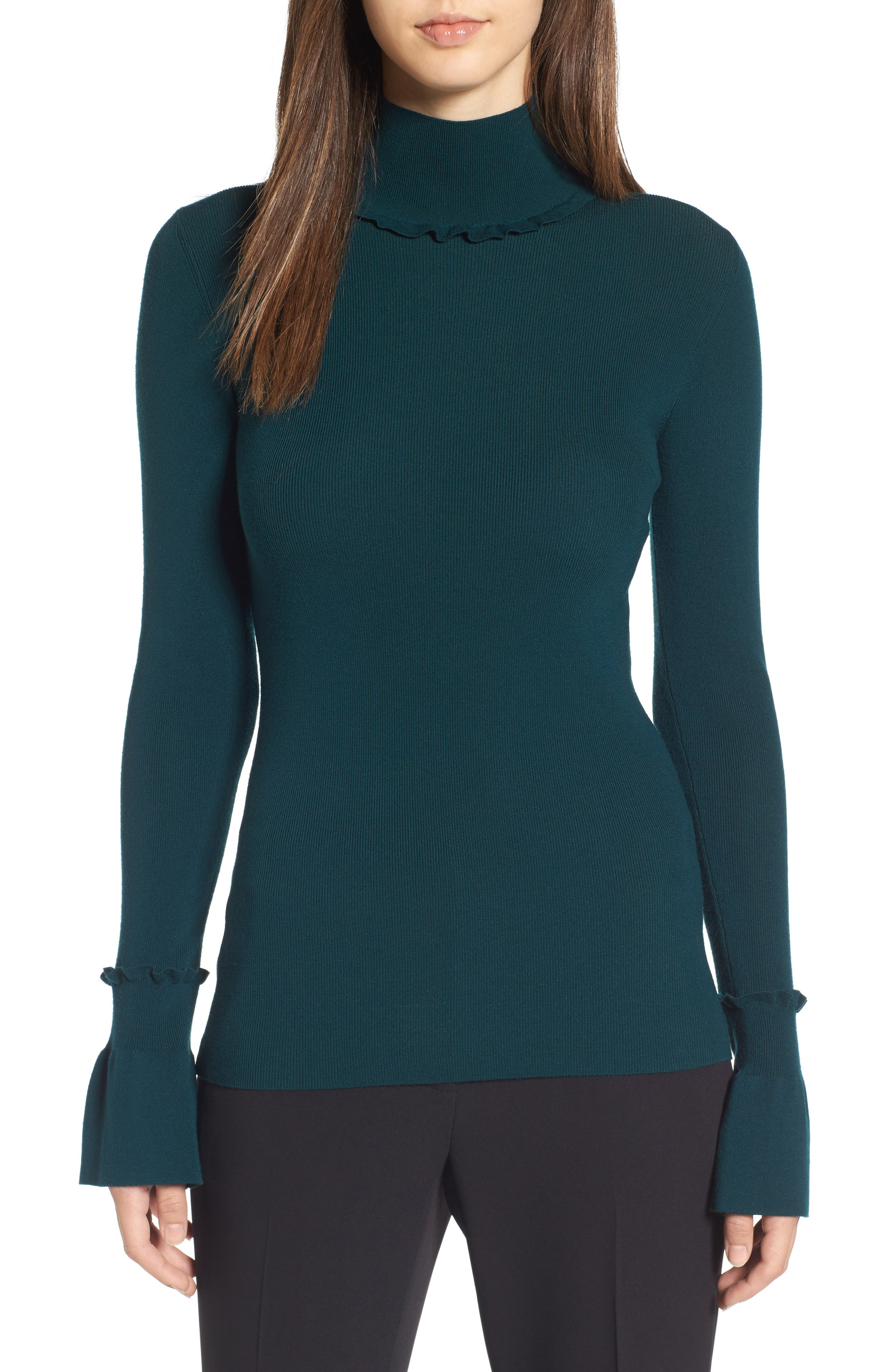 Main Image - Lewit Ruffle Detail Pullover