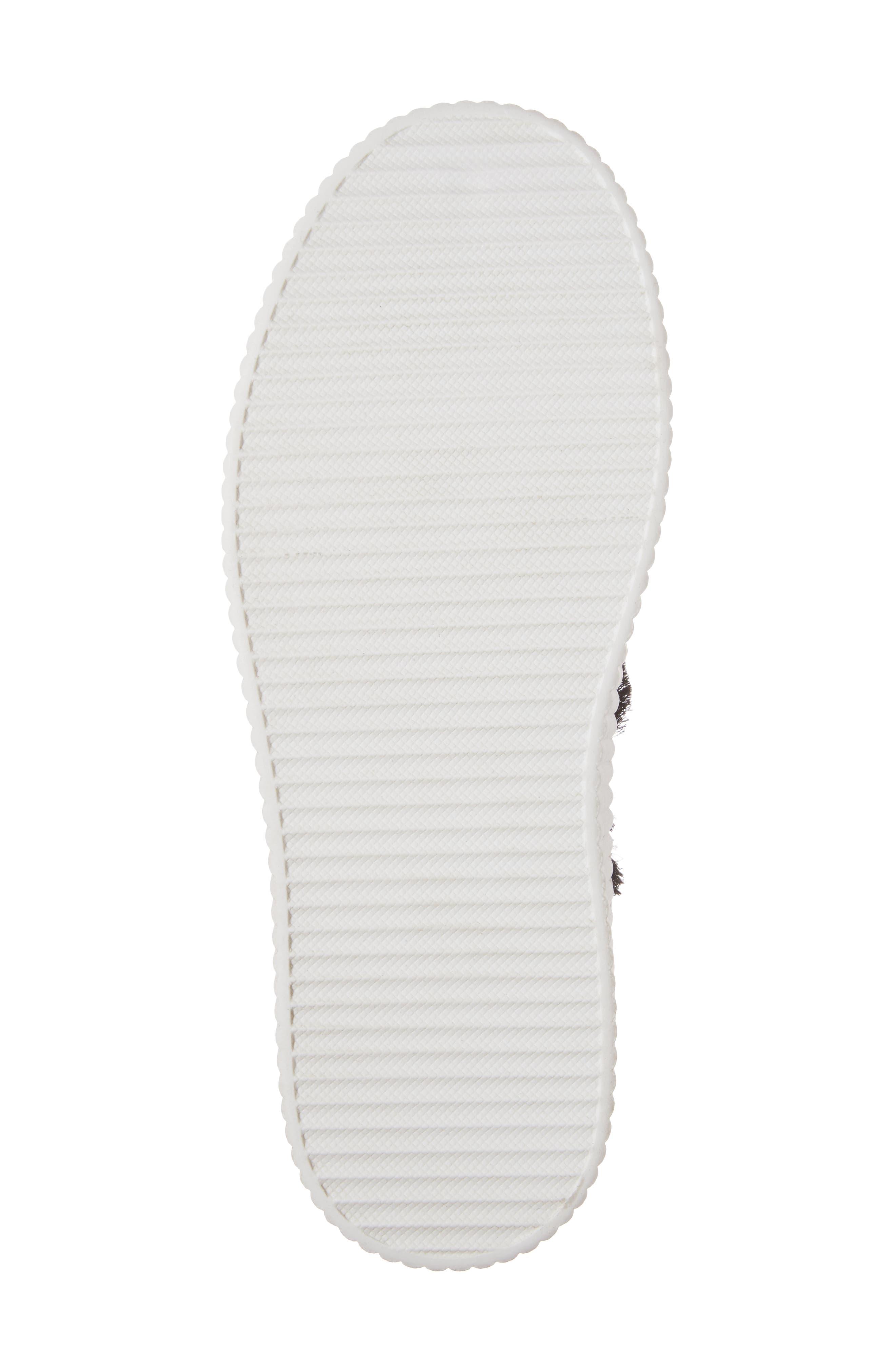 Elder Fringed Platform Sneaker,                             Alternate thumbnail 6, color,                             Black