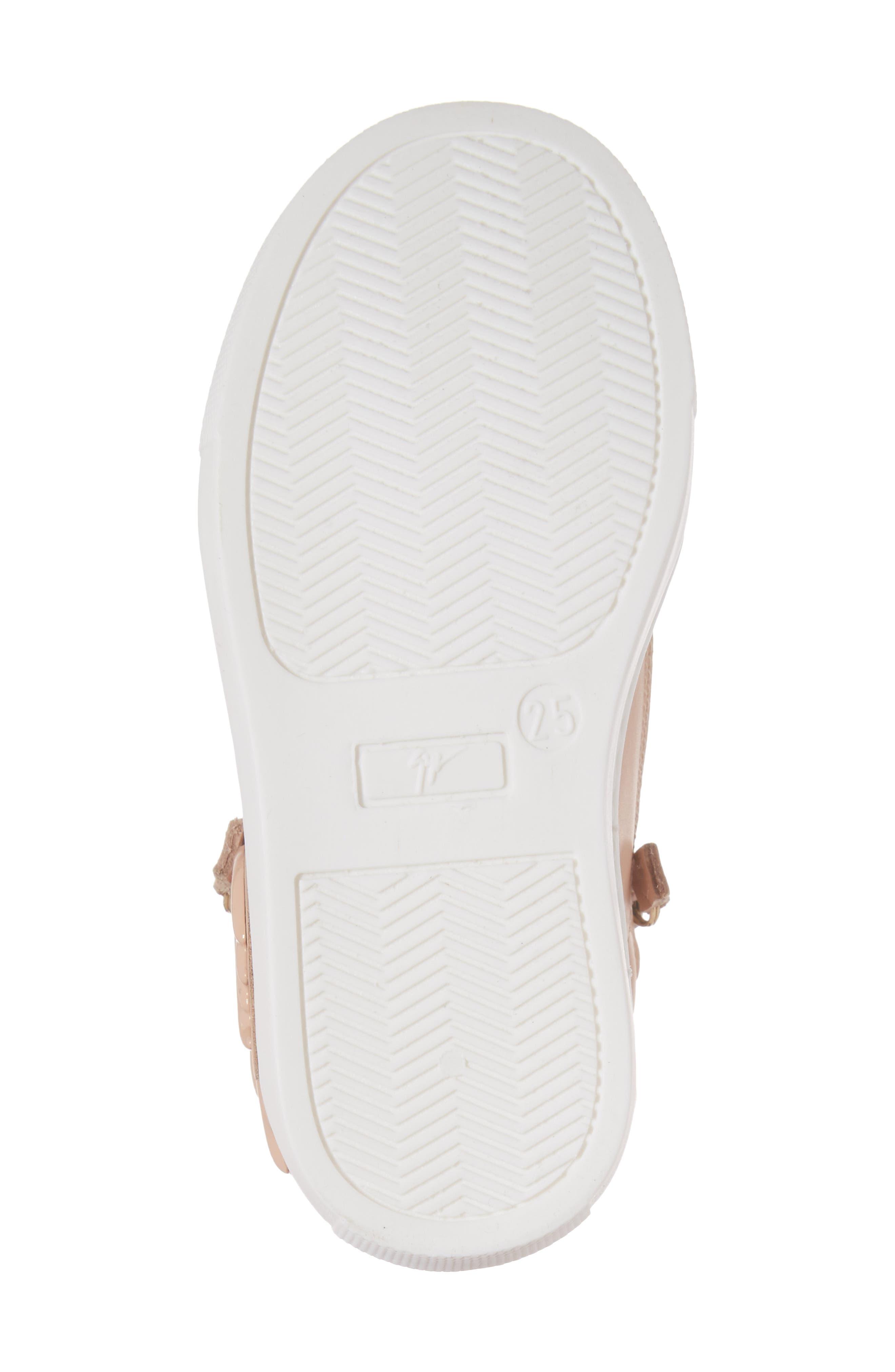 Foglia Embellished Zip Sneaker,                             Alternate thumbnail 6, color,                             Shell Leather