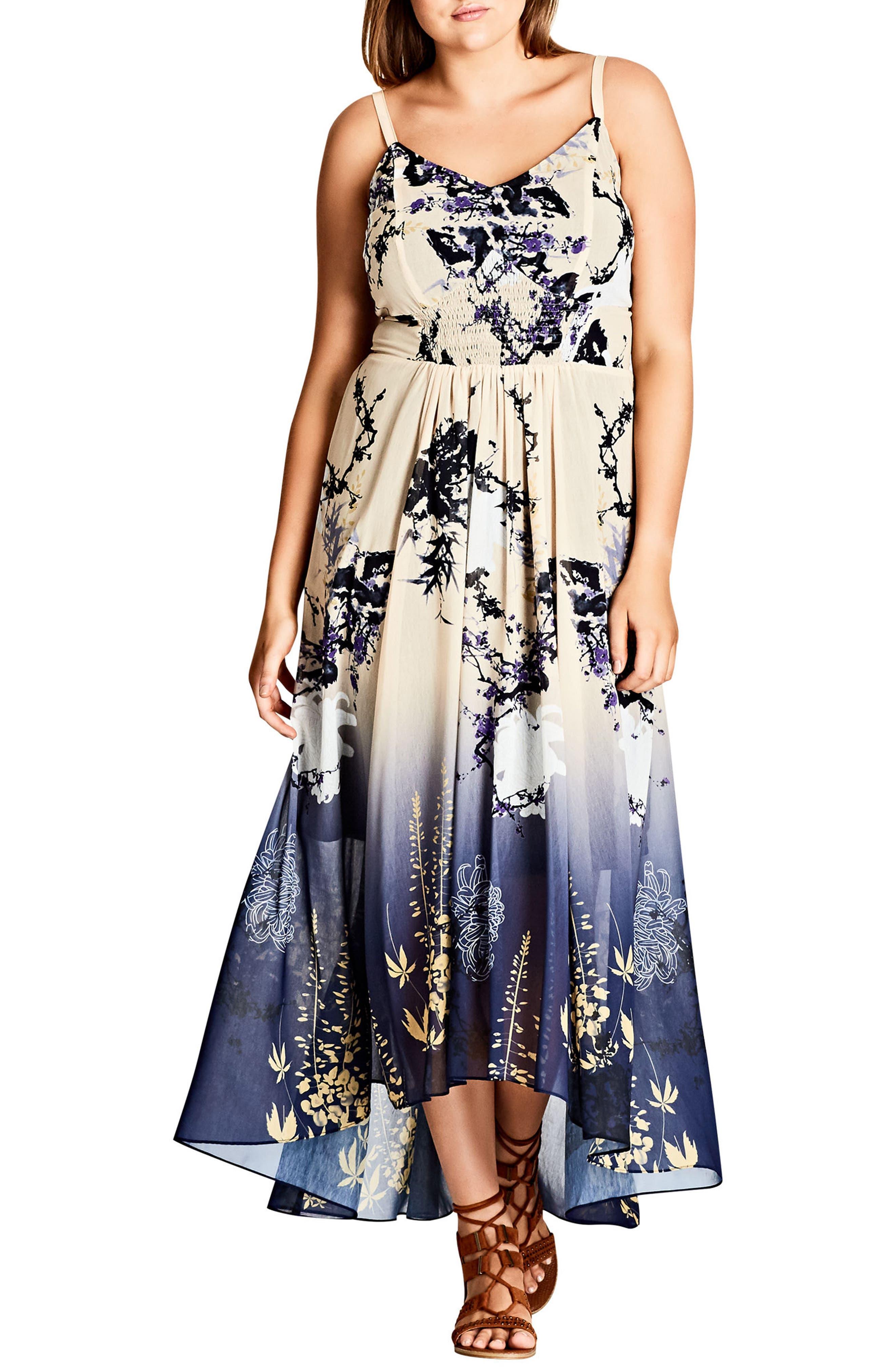 City Chic Tokyo Blossom Maxi Dress (Plus Size)