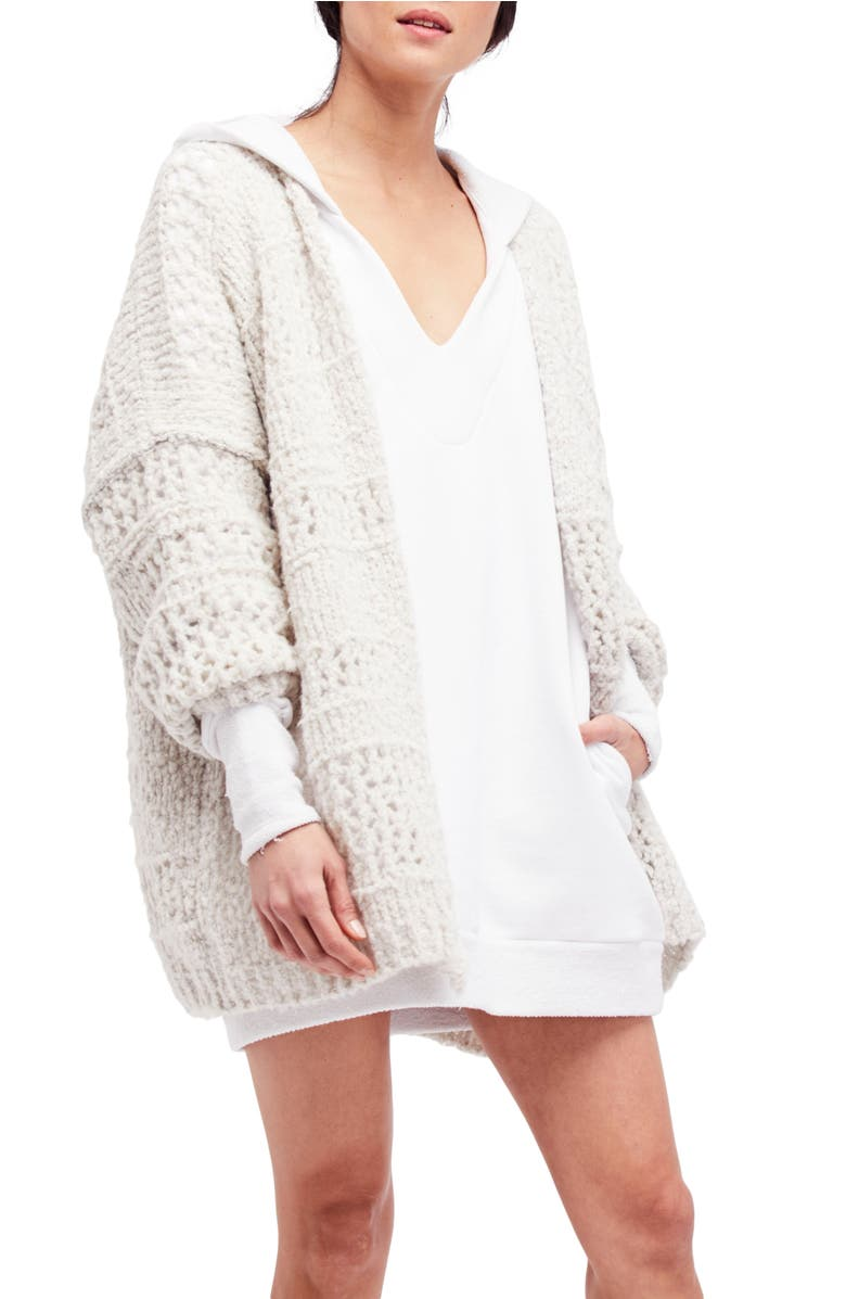 Saturday Morning Cardigan,                         Main,                         color, Ivory