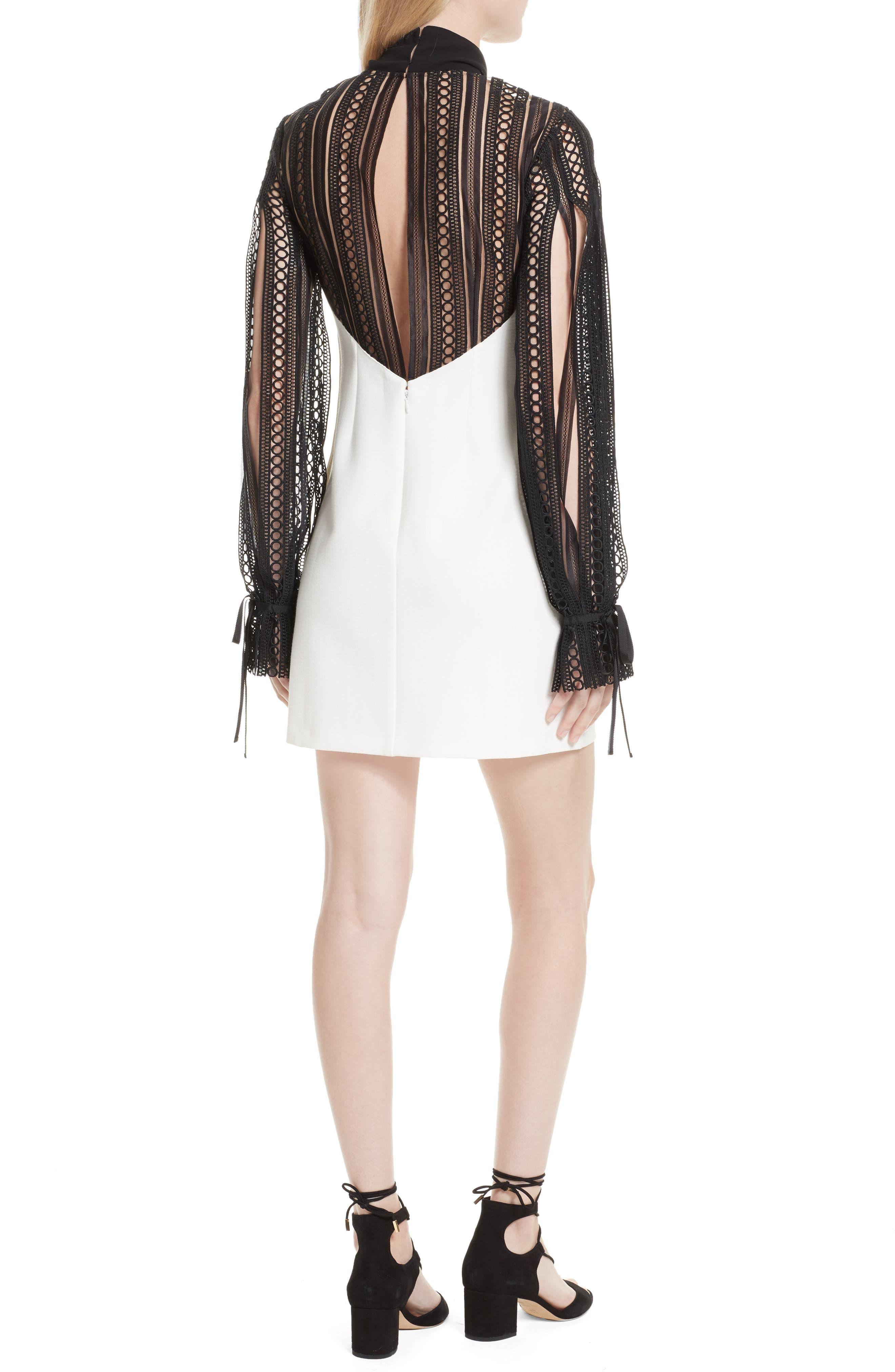 Alternate Image 2  - Self-Portrait Lace Sleeve Minidress