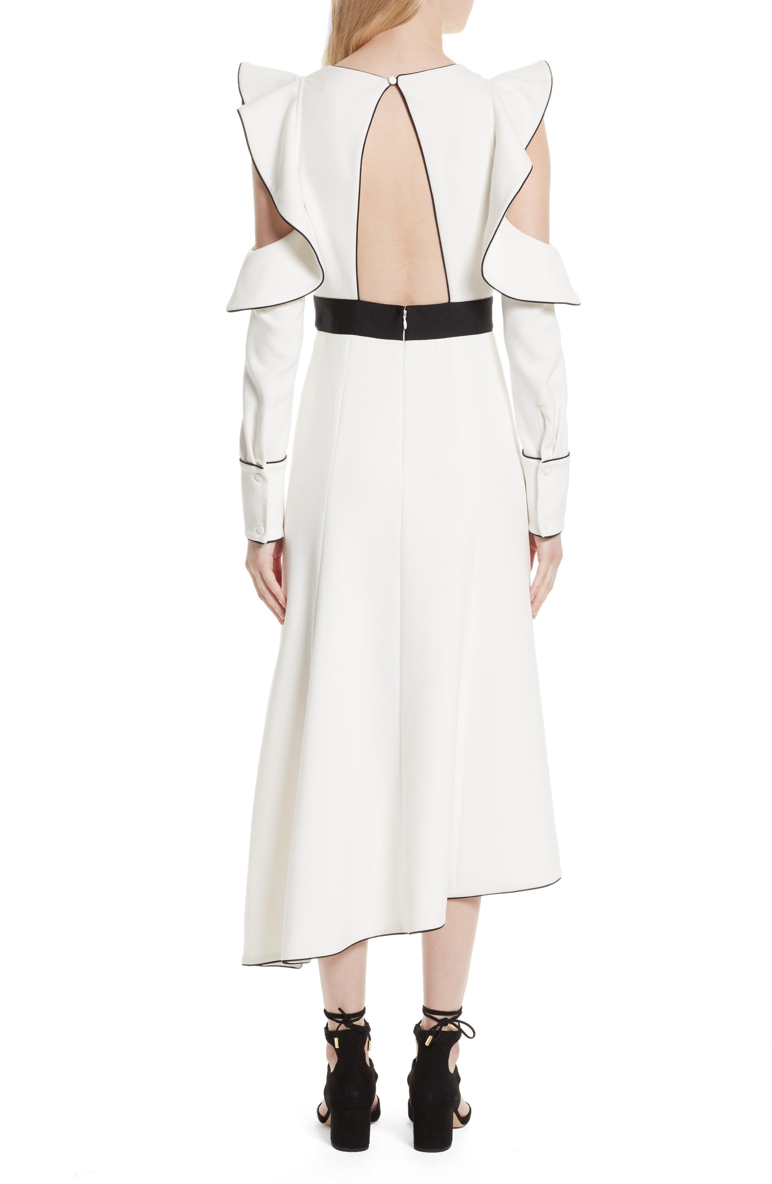 Alternate Image 2  - Self-Portrait Cold Shoulder Asymmetrical Dress