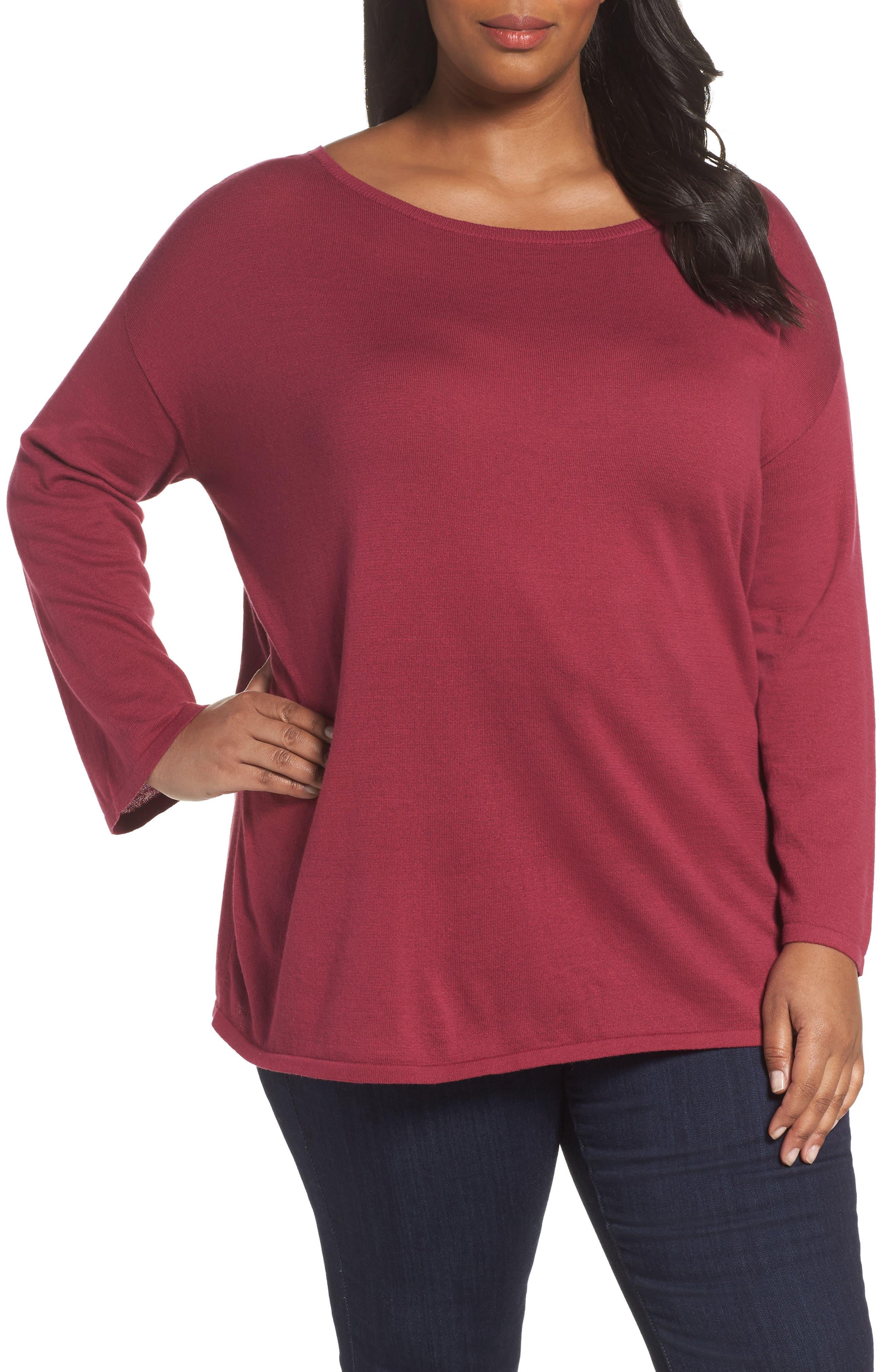 Sejour Drop Shoulder Sweatshirt (Plus Size)