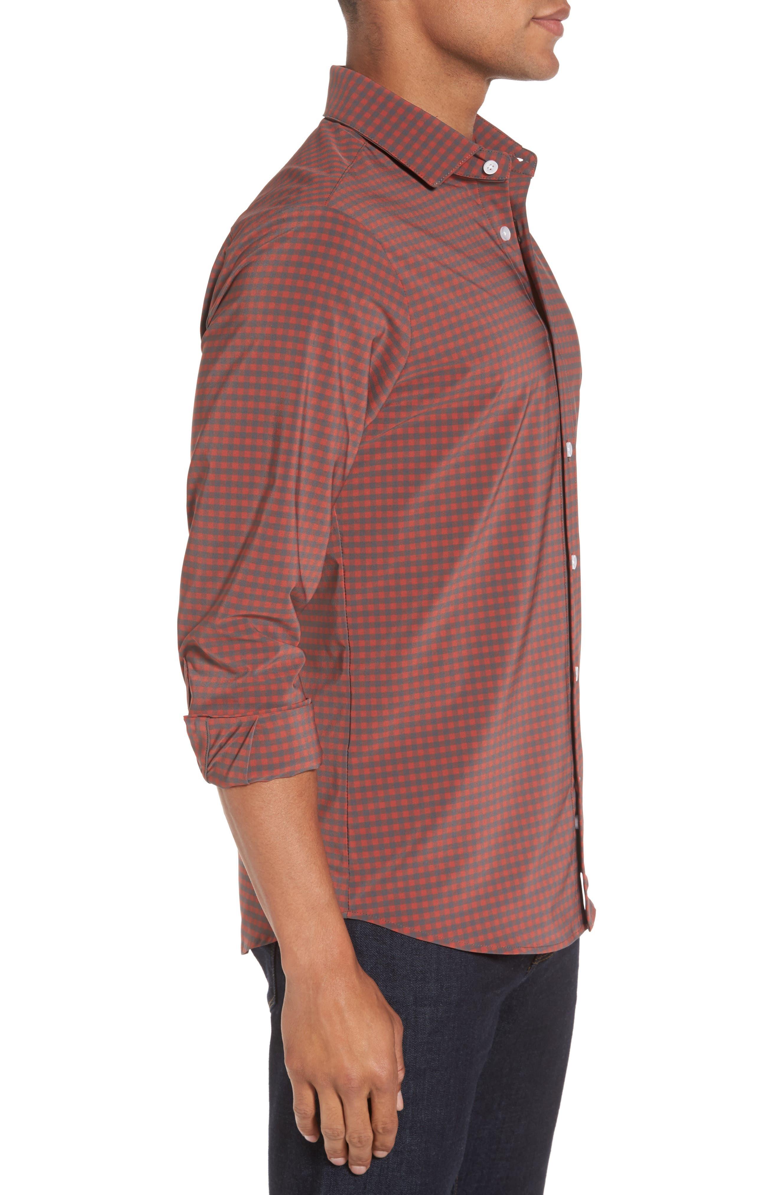 Alternate Image 3  - Mizzen+Main Douglas Grey & Chili Check Sport Shirt