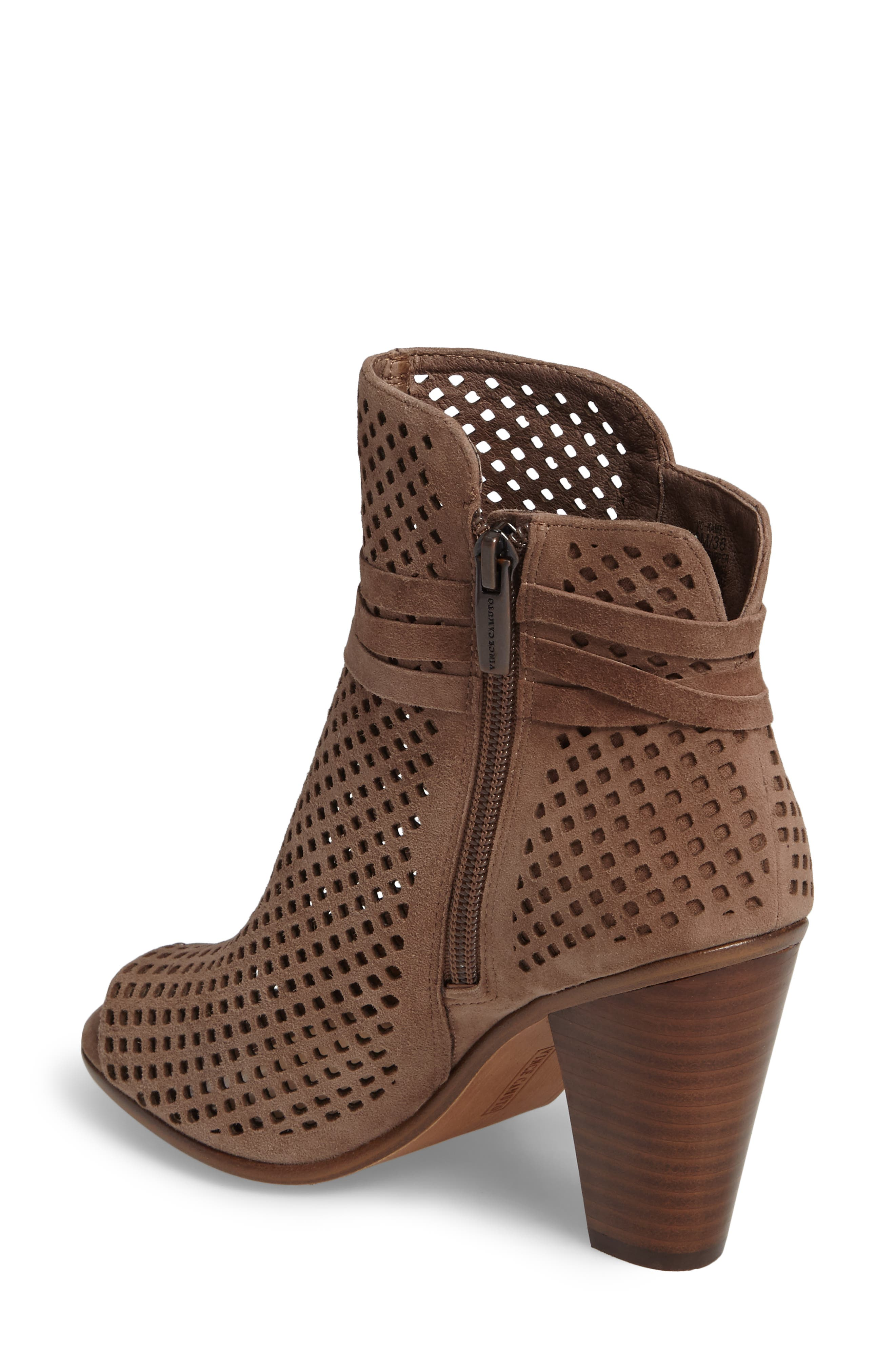 Alternate Image 2  - Vince Camuto Kamey Perforated Open Toe Bootie (Women)