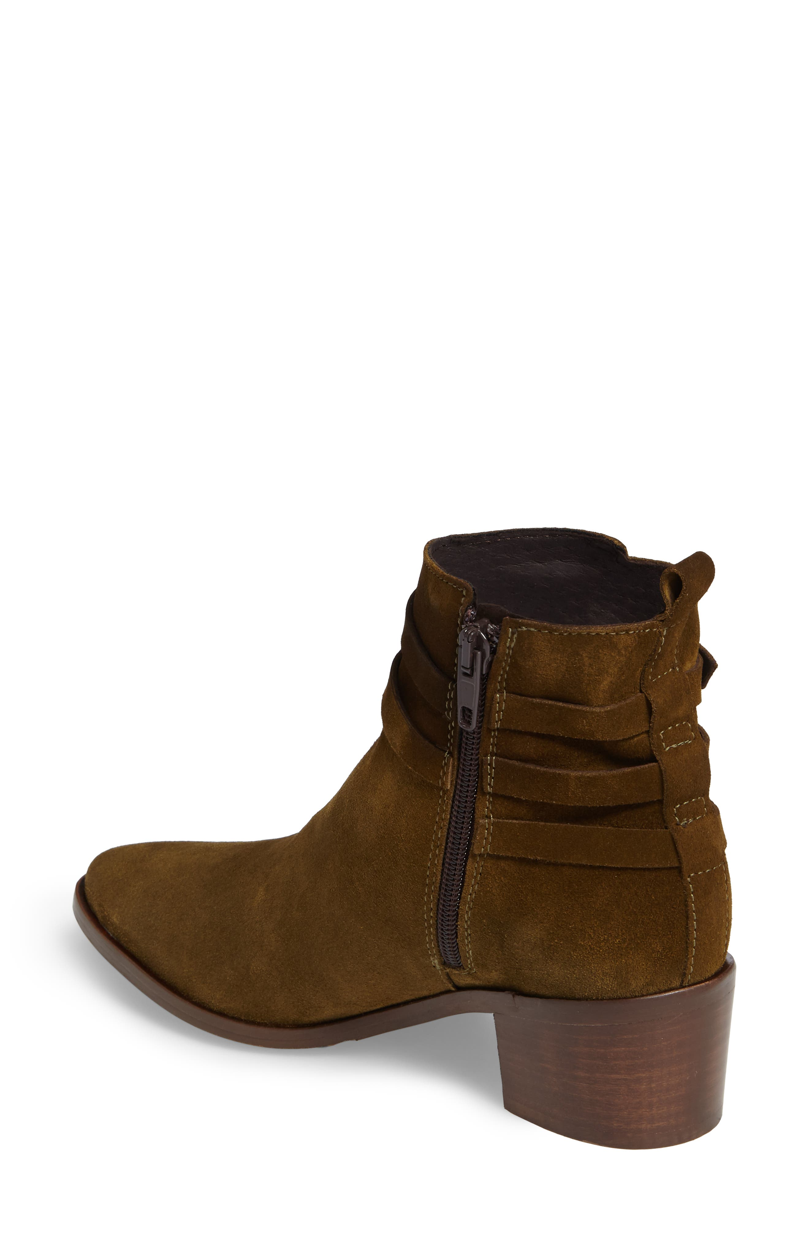 Hunter Bootie,                             Alternate thumbnail 2, color,                             Khaki Suede
