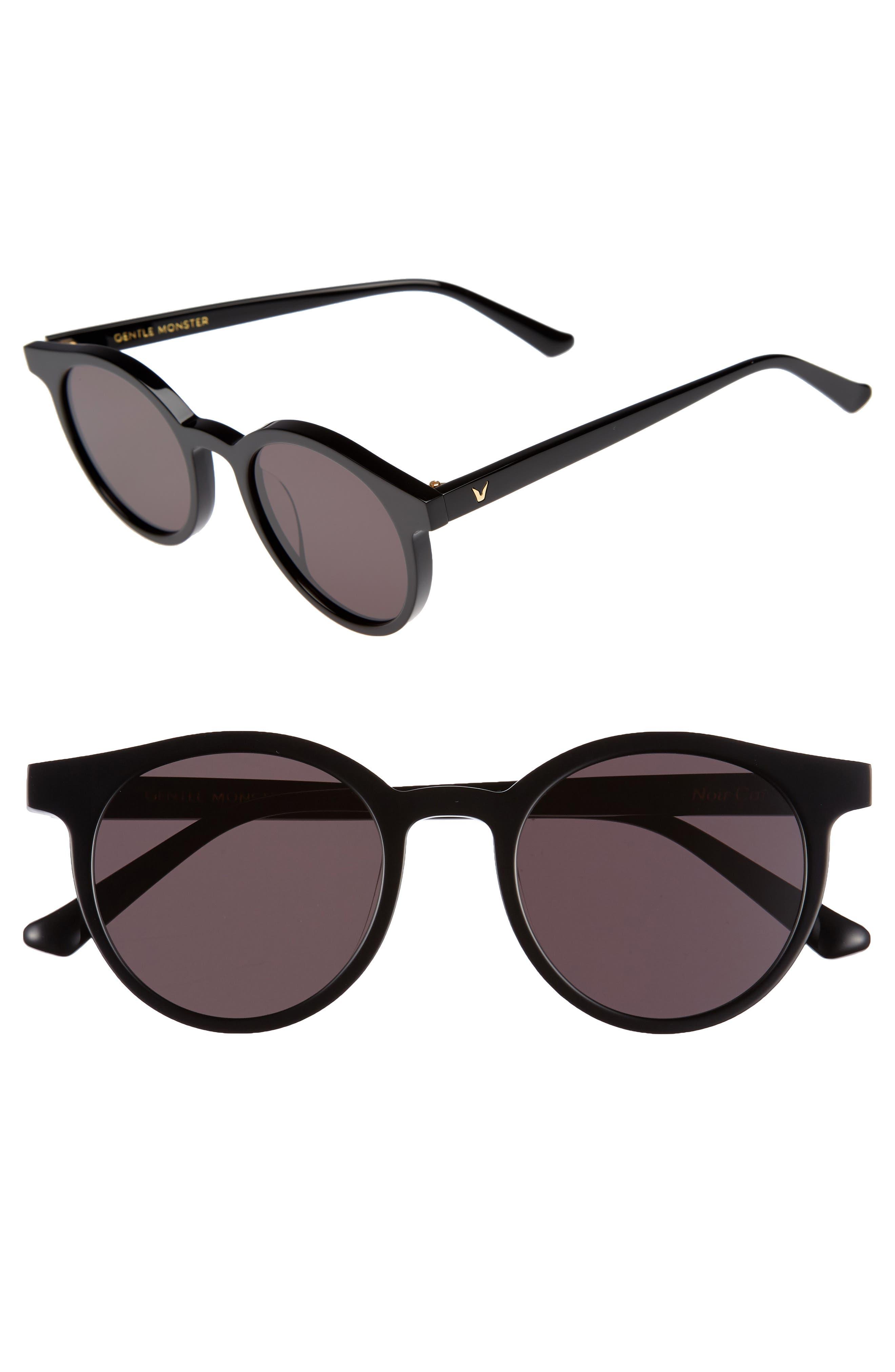 Gentle Monster Noir Cat 51mm Round Sunglasses