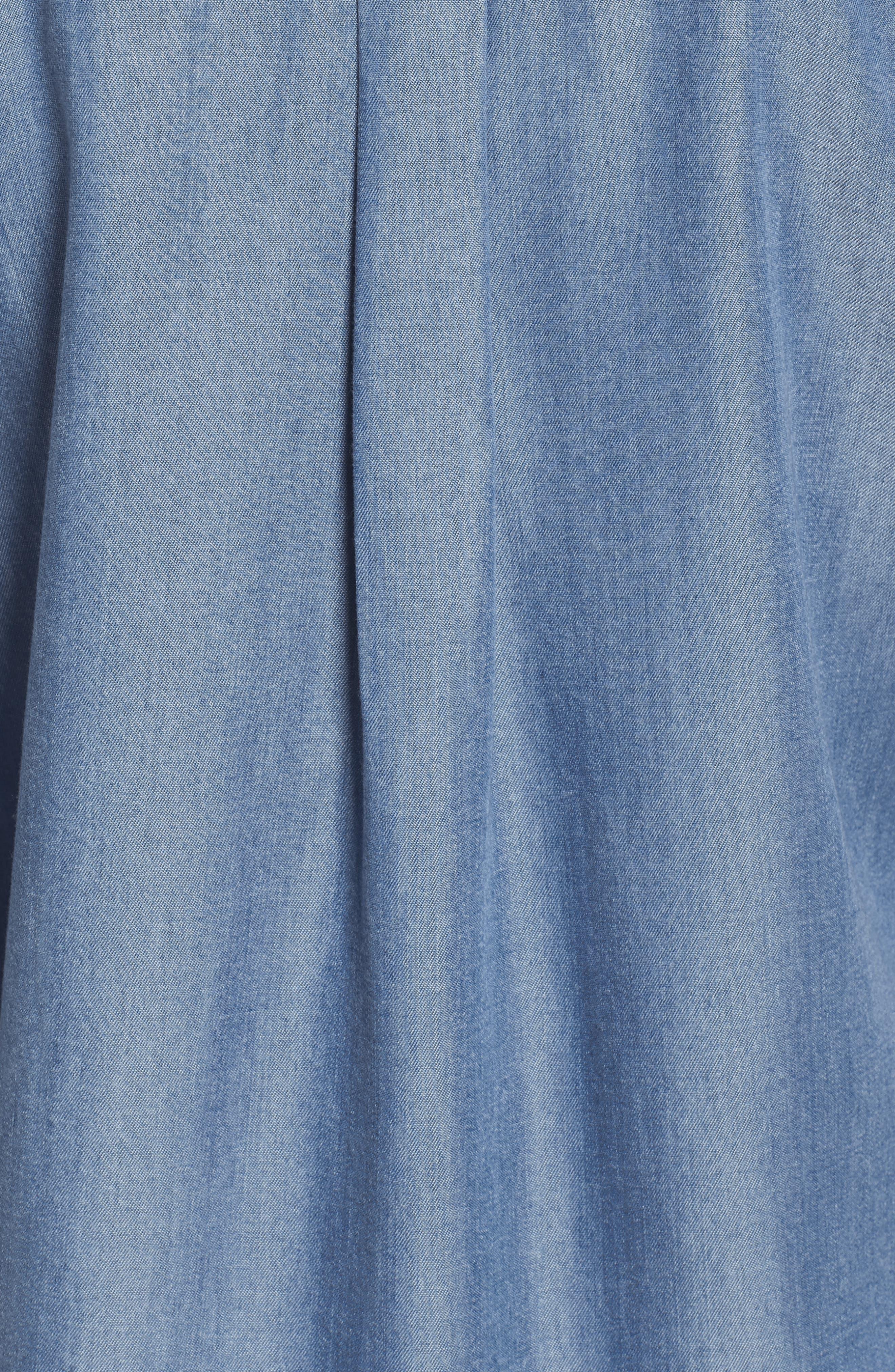 Alternate Image 5  - Caslon® Chambray Shirt (Regular & Petite)