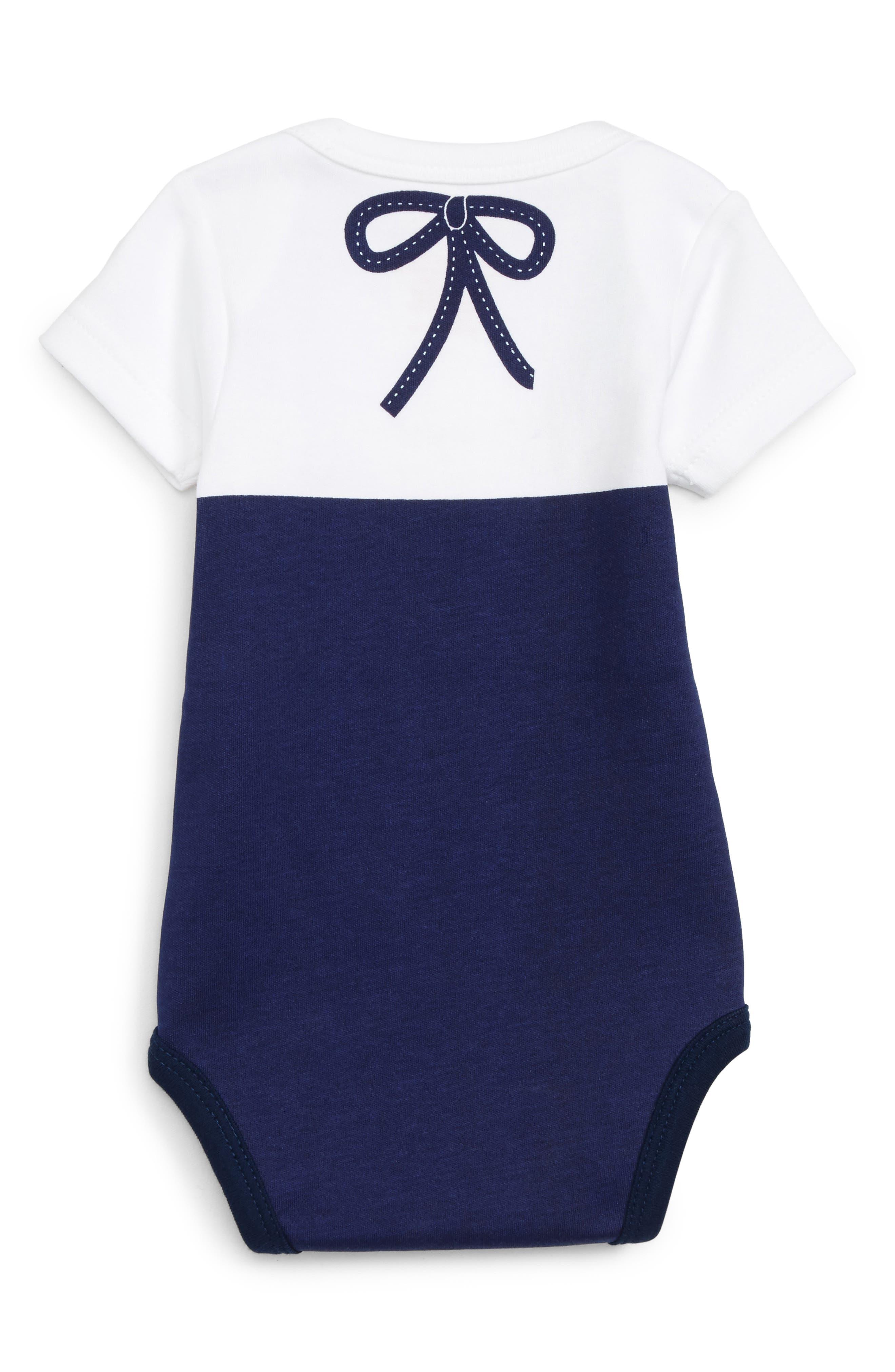Alternate Image 2  - Sara Kety Baby & Kids Stripe Bodysuit (Baby Girls)