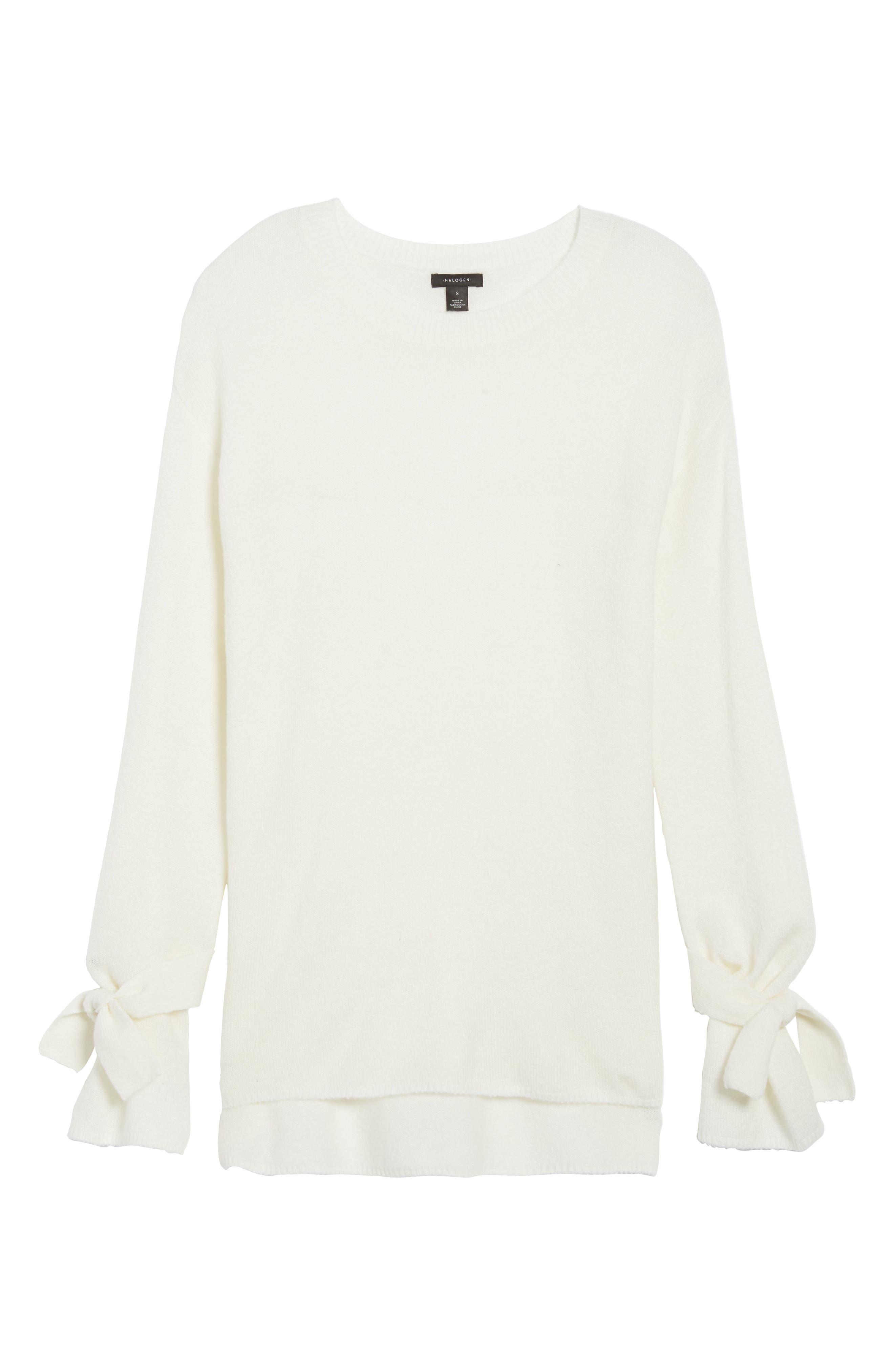 Alternate Image 6  - Halogen® Tie Bell Sleeve Sweater (Regular & Petite)