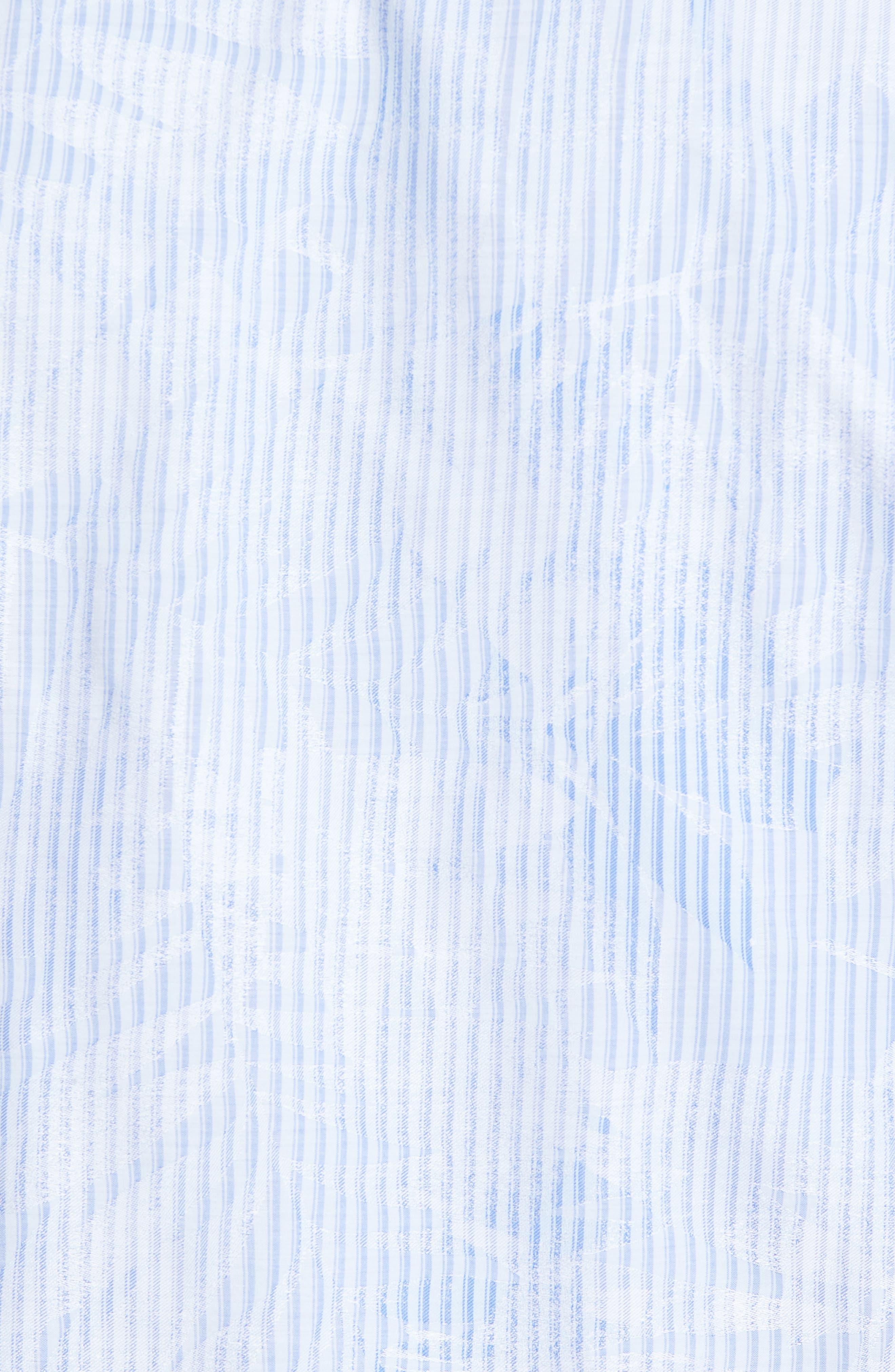 Alternate Image 6  - Bugatchi Shaped Fit Floral Stripe Sport Shirt