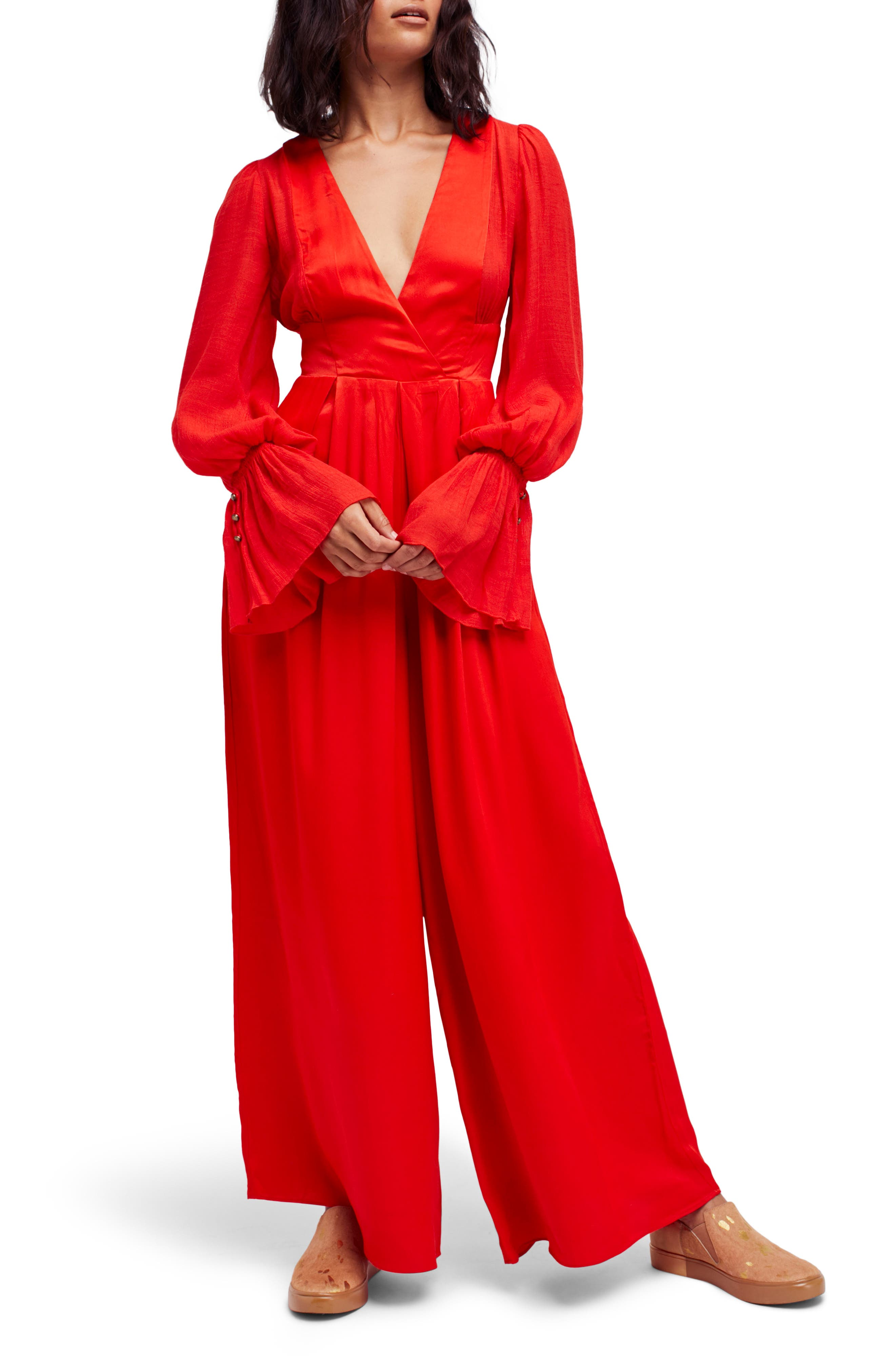 Not Your Baby Jumpsuit,                             Main thumbnail 1, color,                             Red