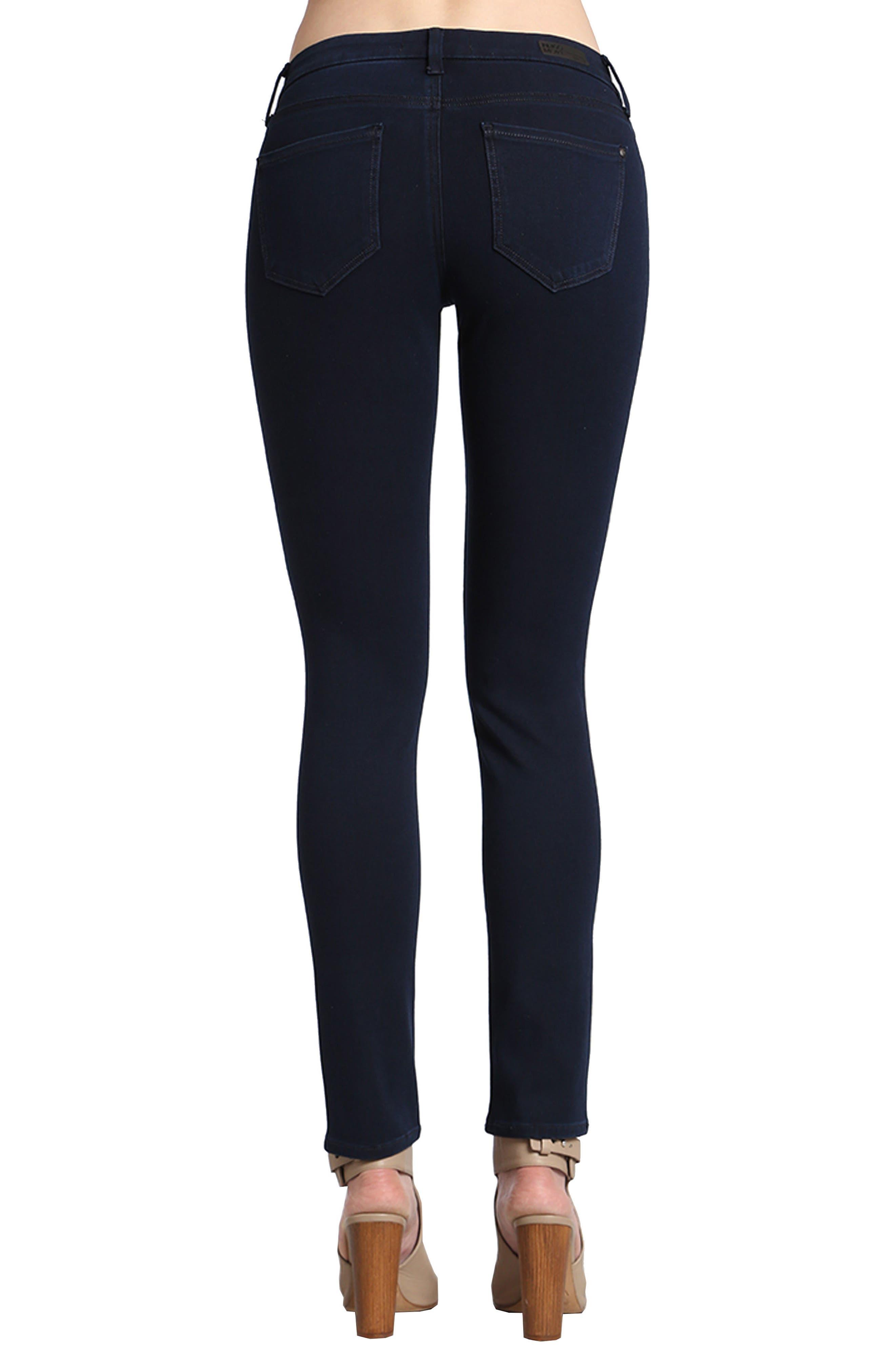 Alternate Image 2  - Mavi Jeans Alexa Stretch Skinny Jeans (Deep)