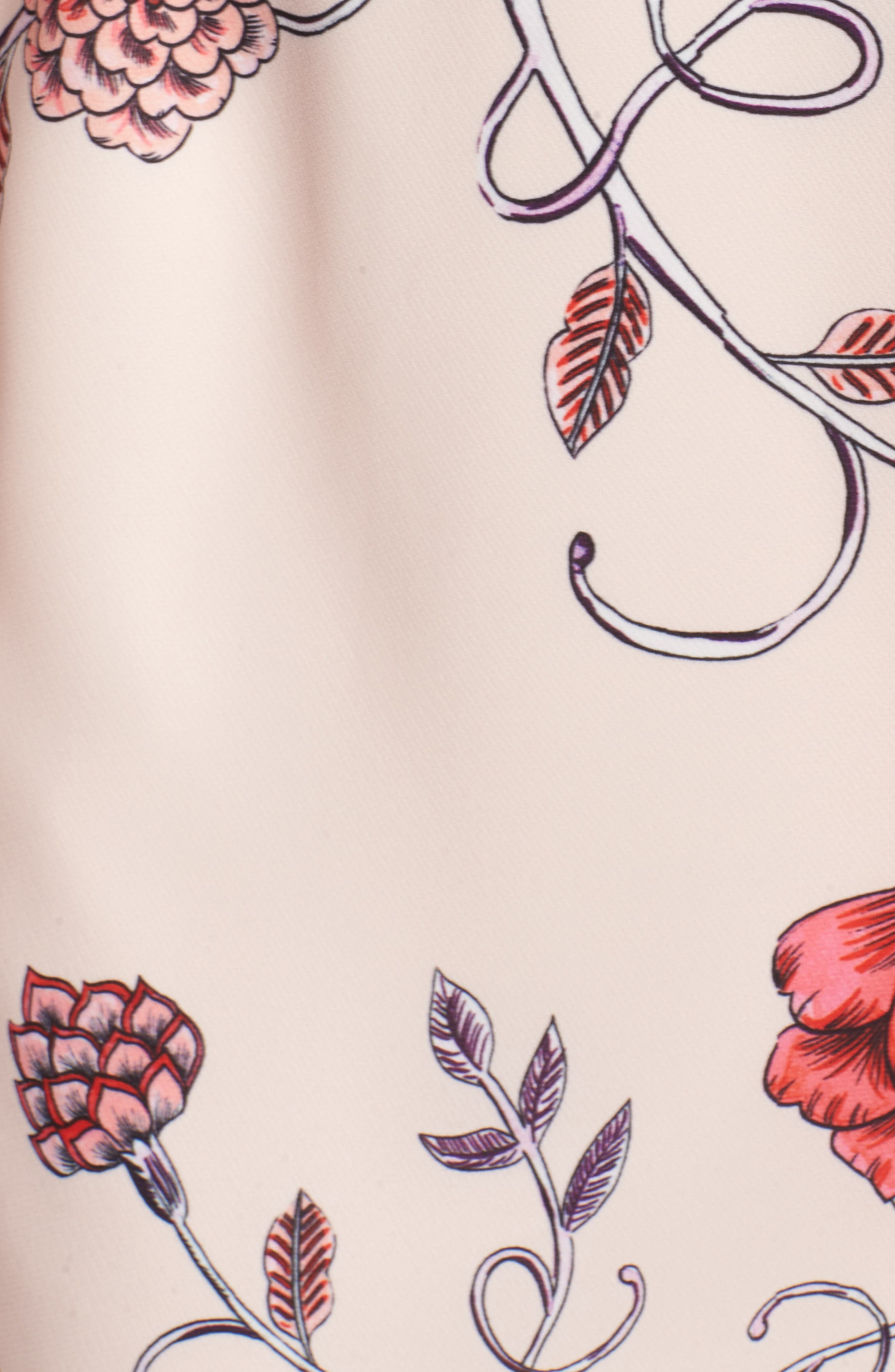 Sakura Bell Sleeve Dress,                             Alternate thumbnail 5, color,                             Pink Print