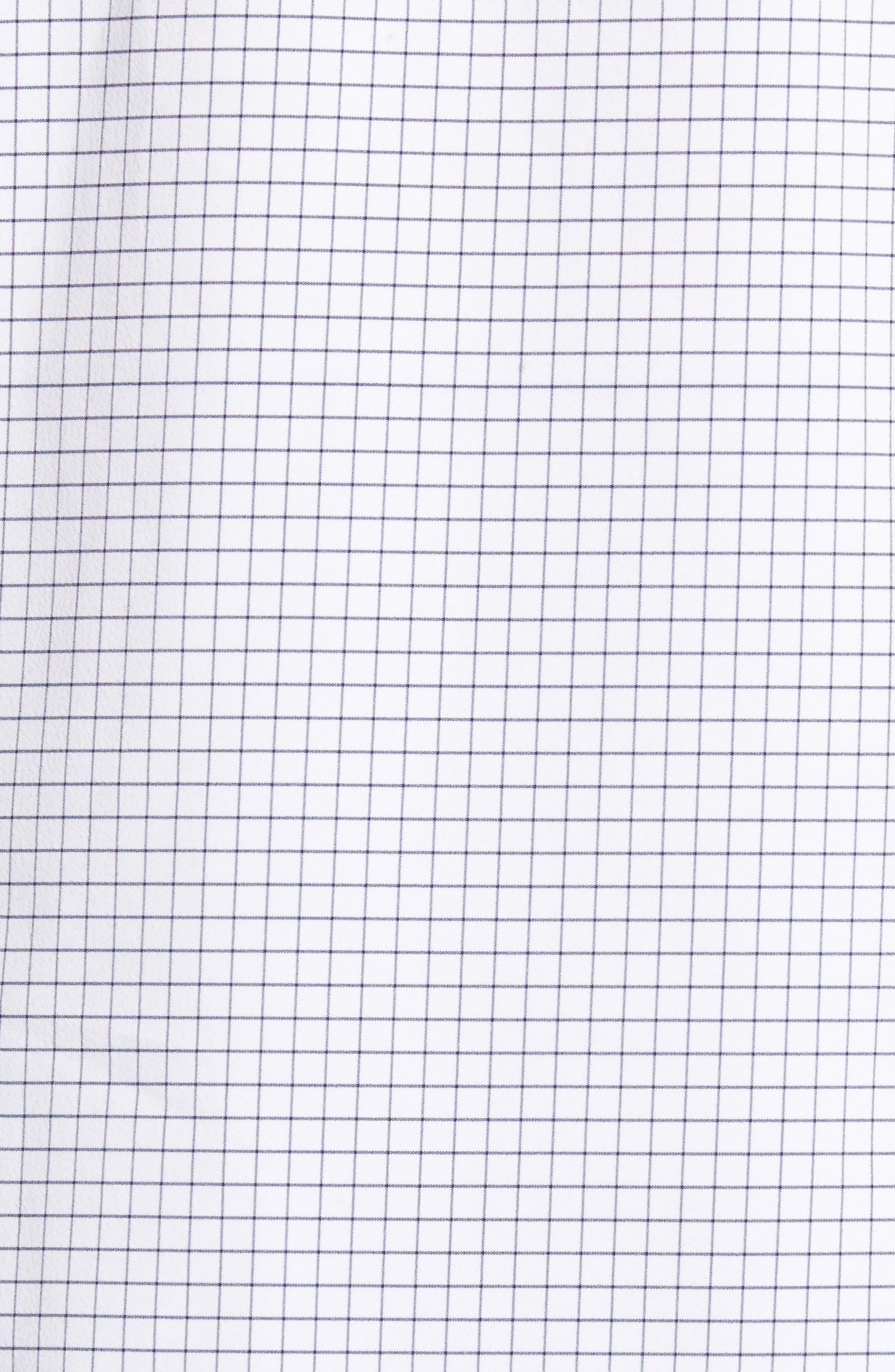 Kennedy Windowpane Sport Shirt,                             Alternate thumbnail 5, color,                             White