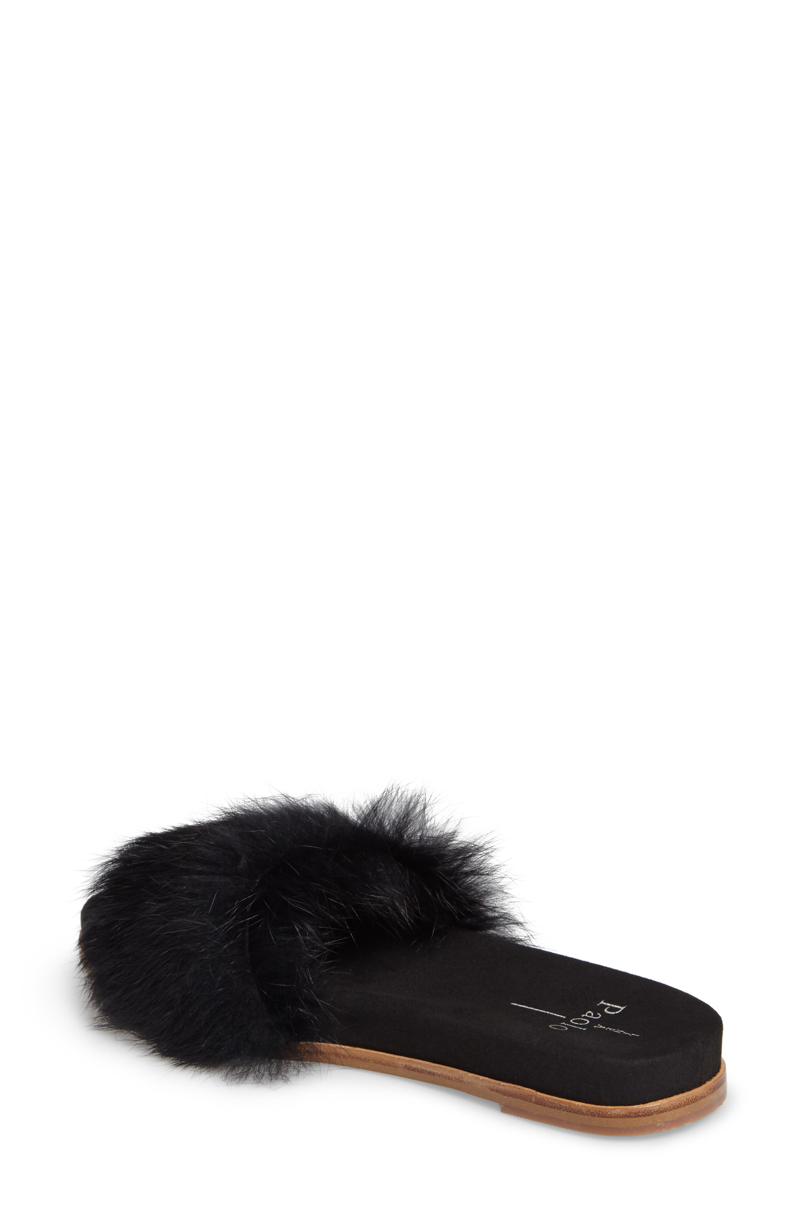 Alternate Image 2  - Linea Paolo Lisa Genuine Rabbit Fur Slide Sandal (Women)
