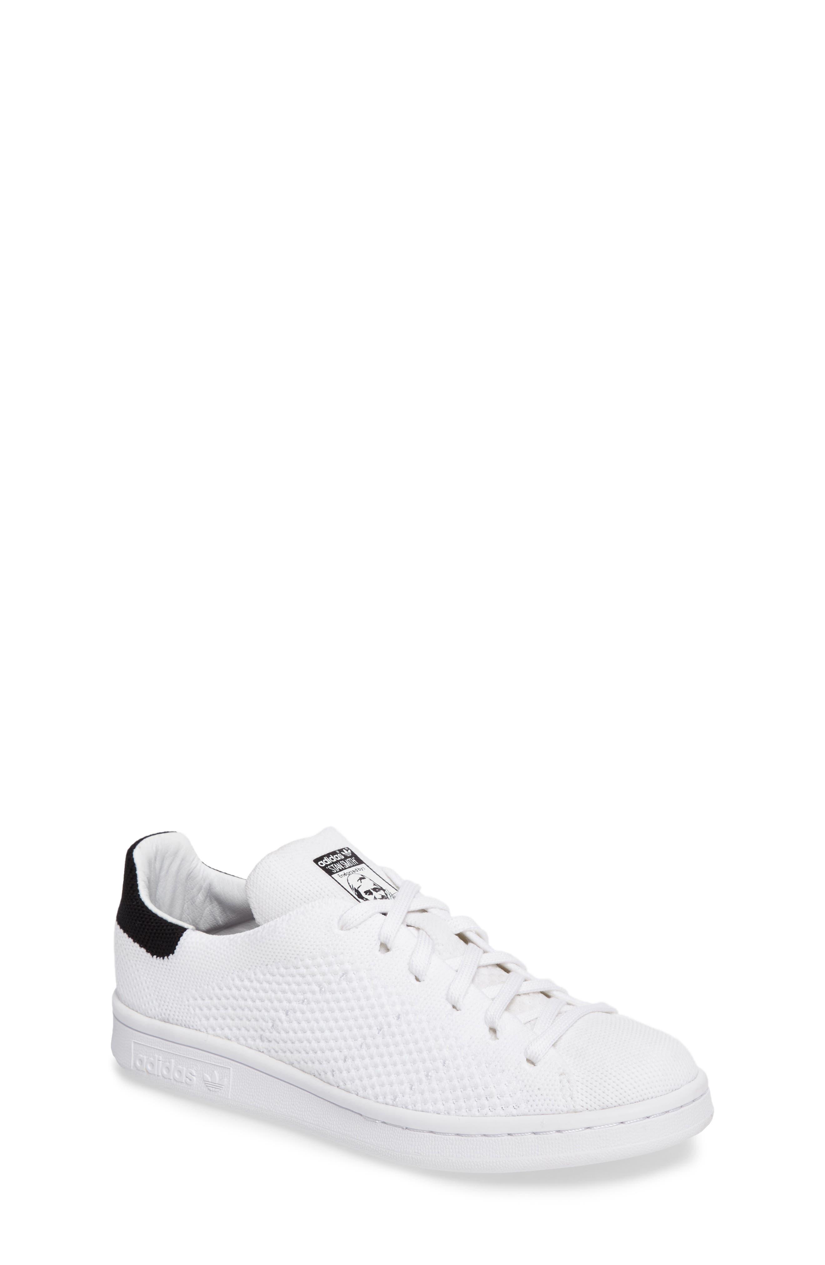 Stan Smith Primeknit Sneaker,                             Main thumbnail 1, color,                             Footwear White