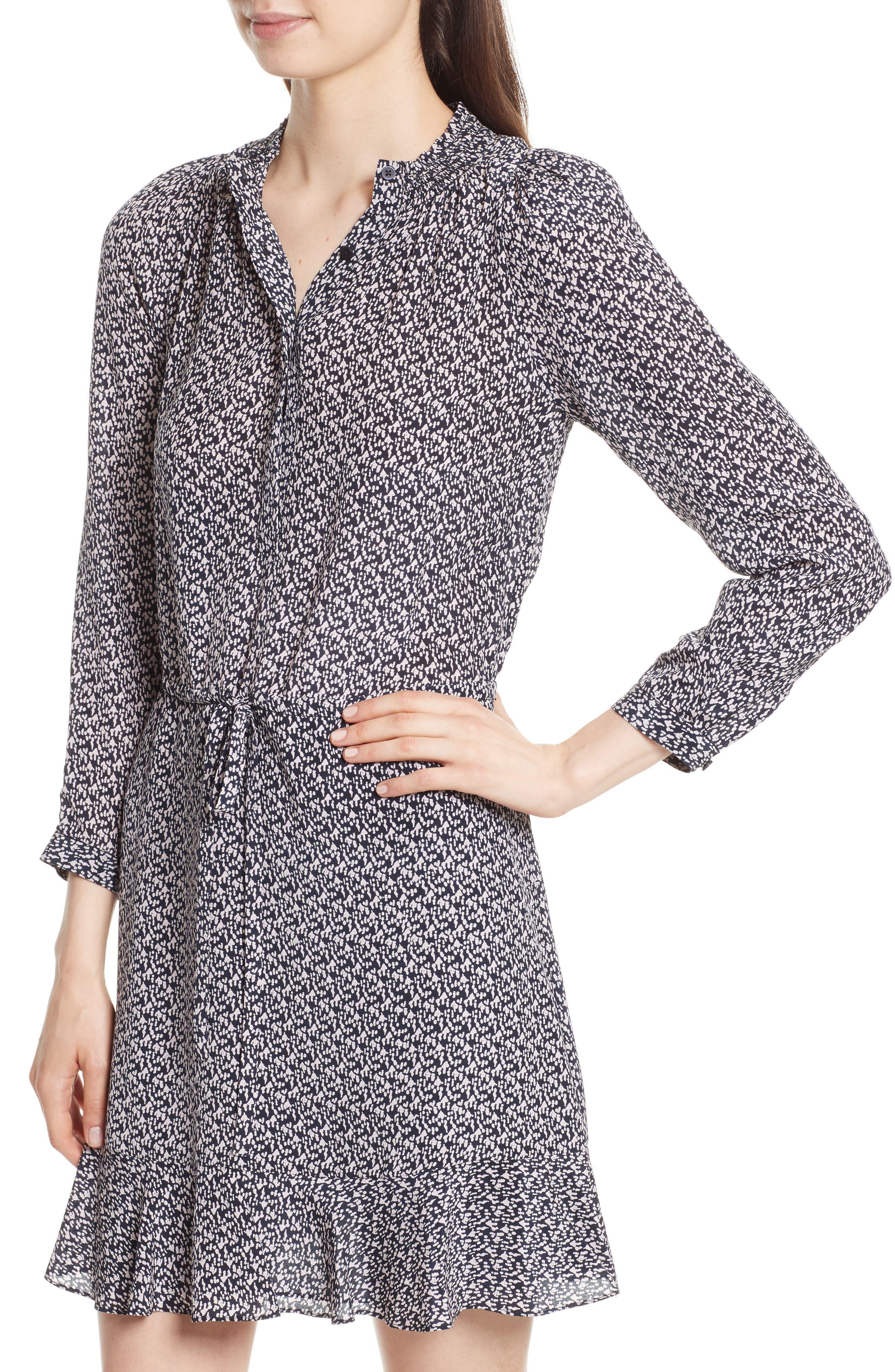 Alternate Image 4  - Rebecca Taylor Static Print Silk Shirtdress
