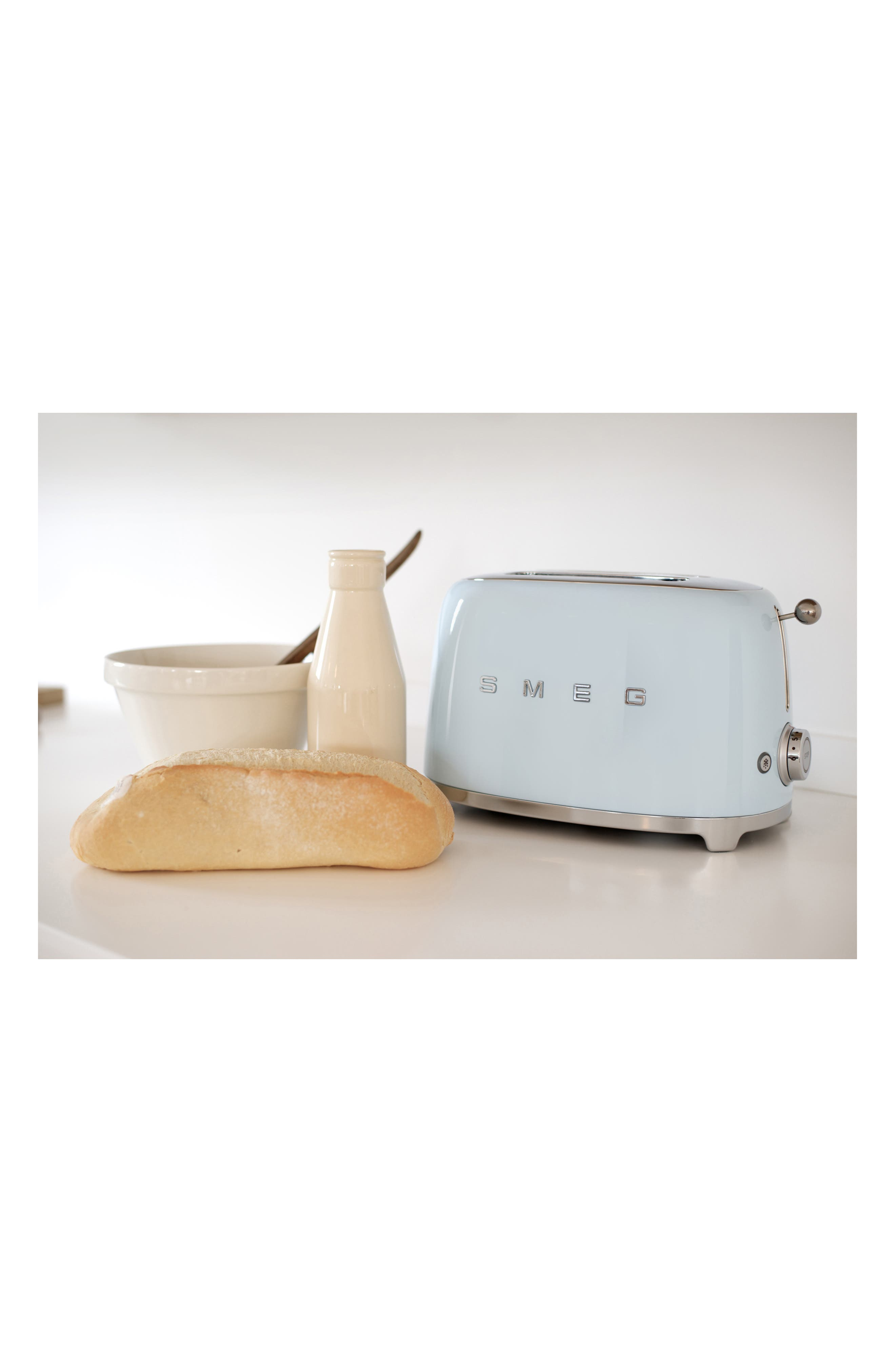 50s Retro Style Two-Slice Toaster,                             Alternate thumbnail 4, color,