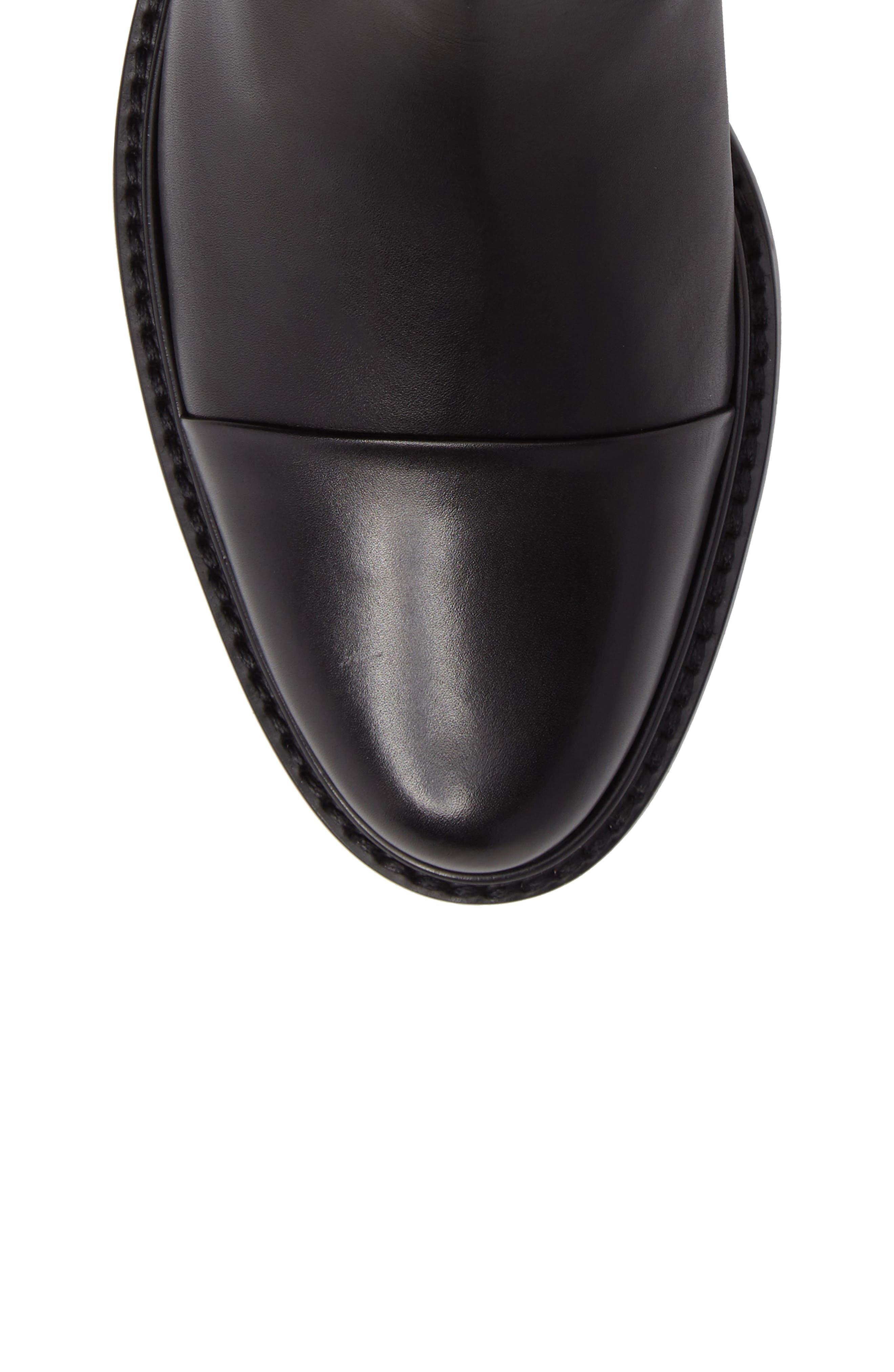 Gobi Cap Toe Chelsea Boot,                             Alternate thumbnail 5, color,                             Black Calf