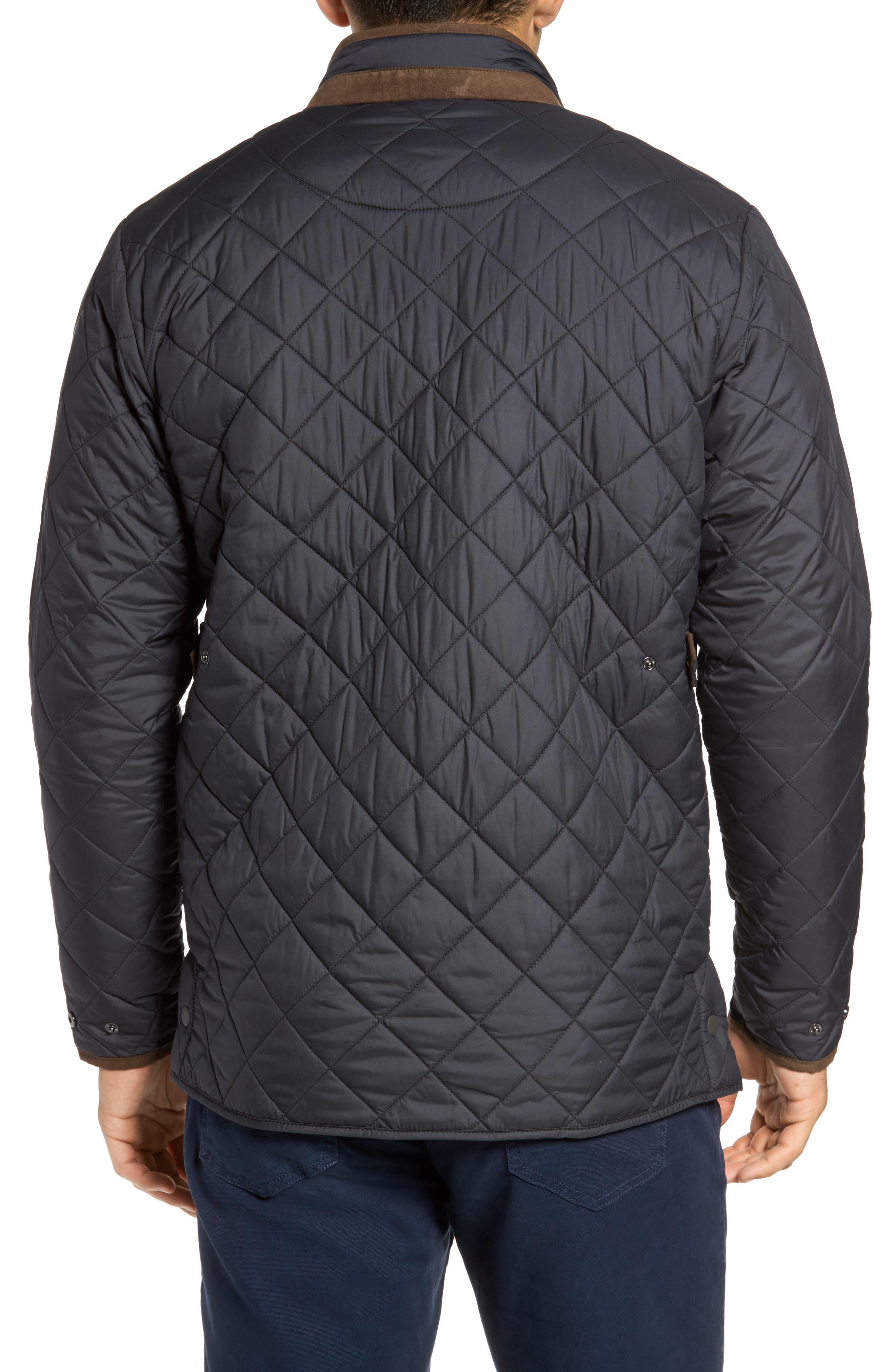 Suffolk Quilted Water-Resistant Car Coat,                             Alternate thumbnail 2, color,                             Black