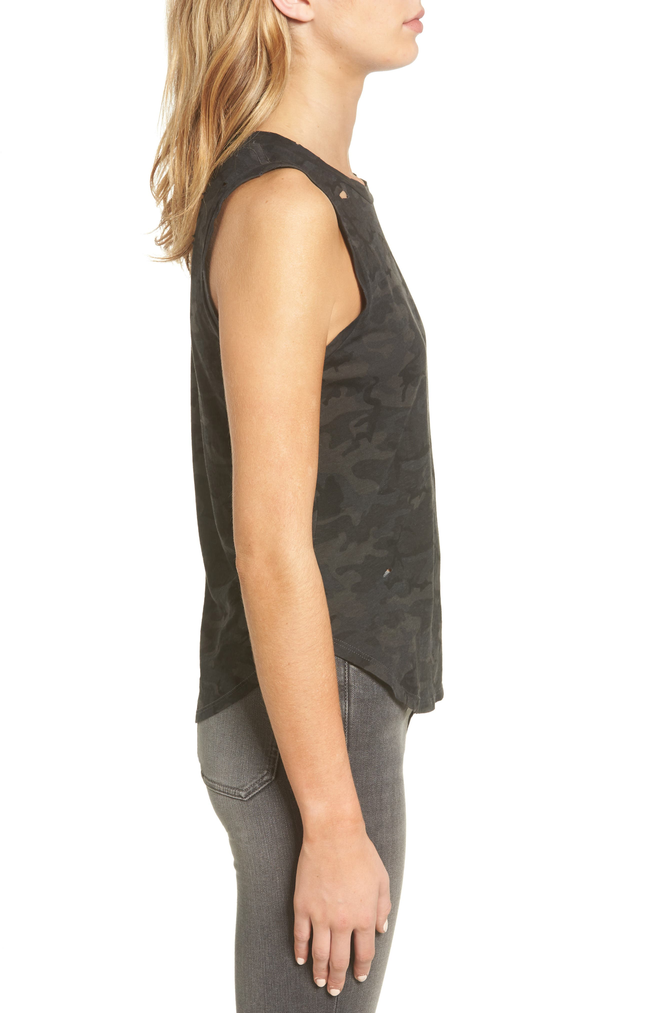 Corin Distressed Muscle Tank,                             Alternate thumbnail 3, color,                             Ghost Multi Camo