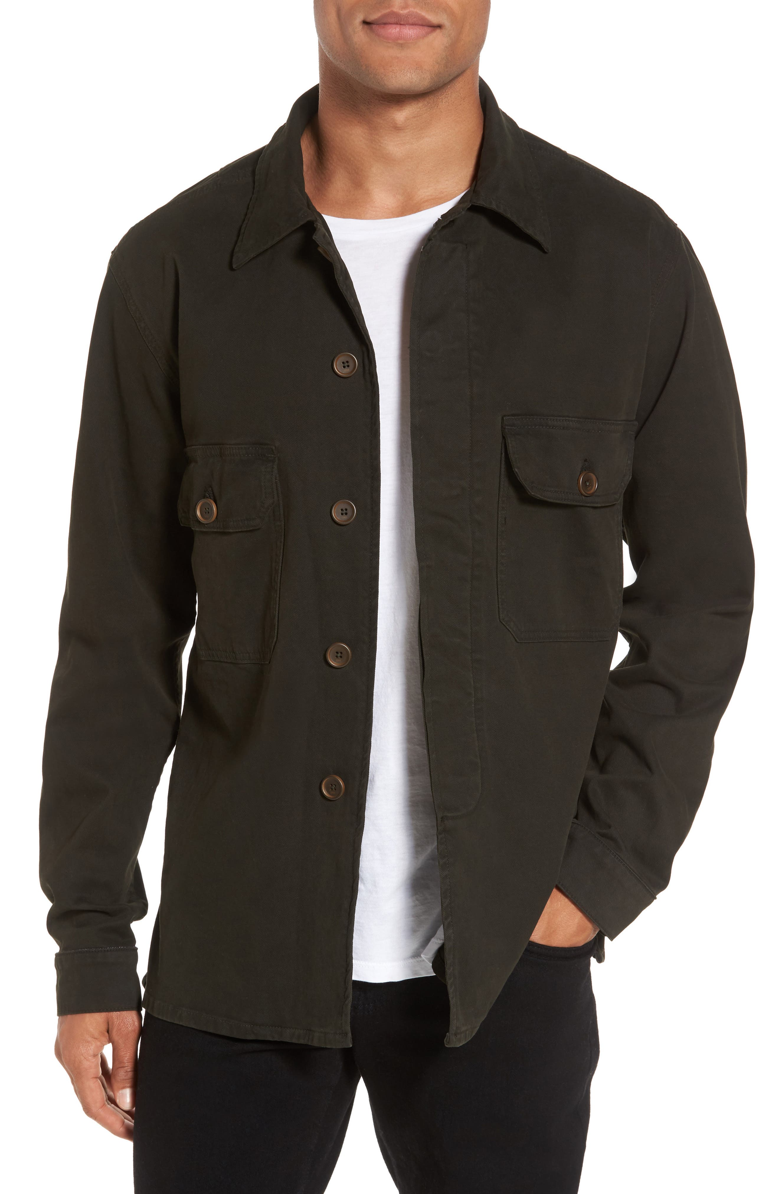 Hudson Jeans Slim Fit Shirt Jacket