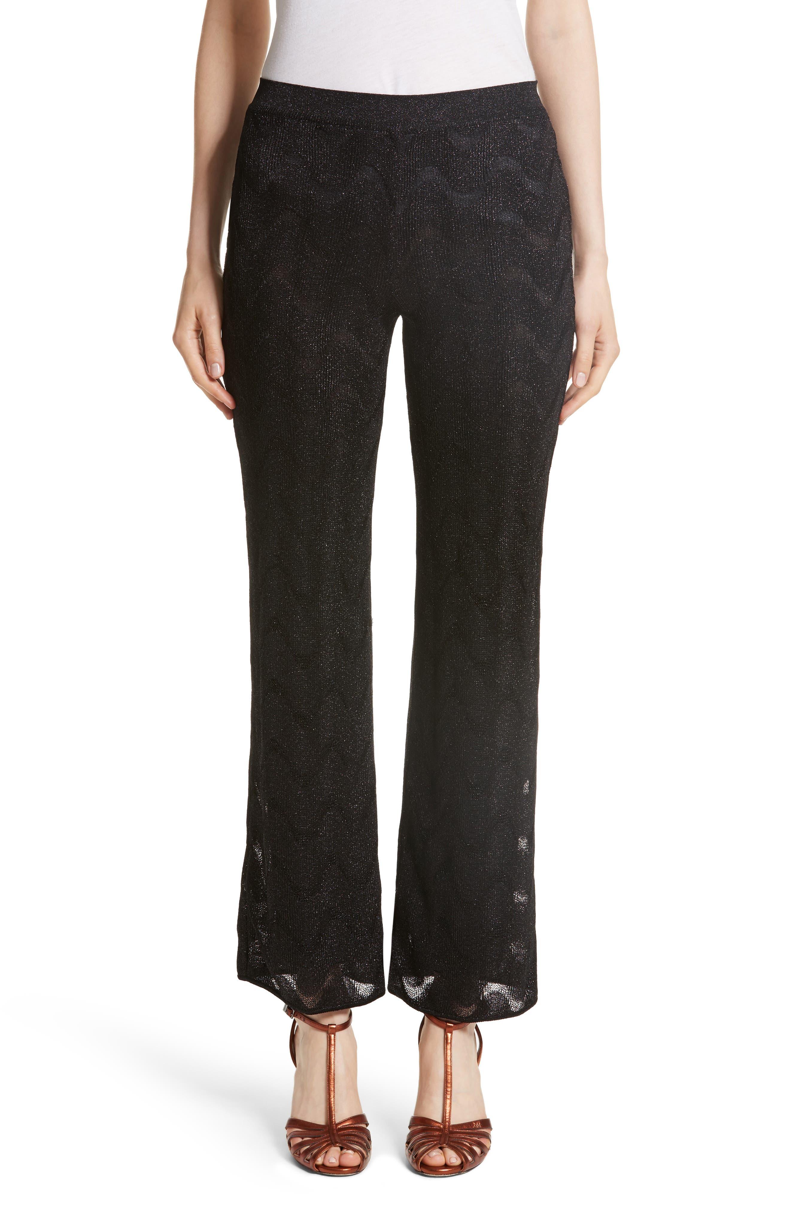 Missoni Metallic Knit Crop Pants