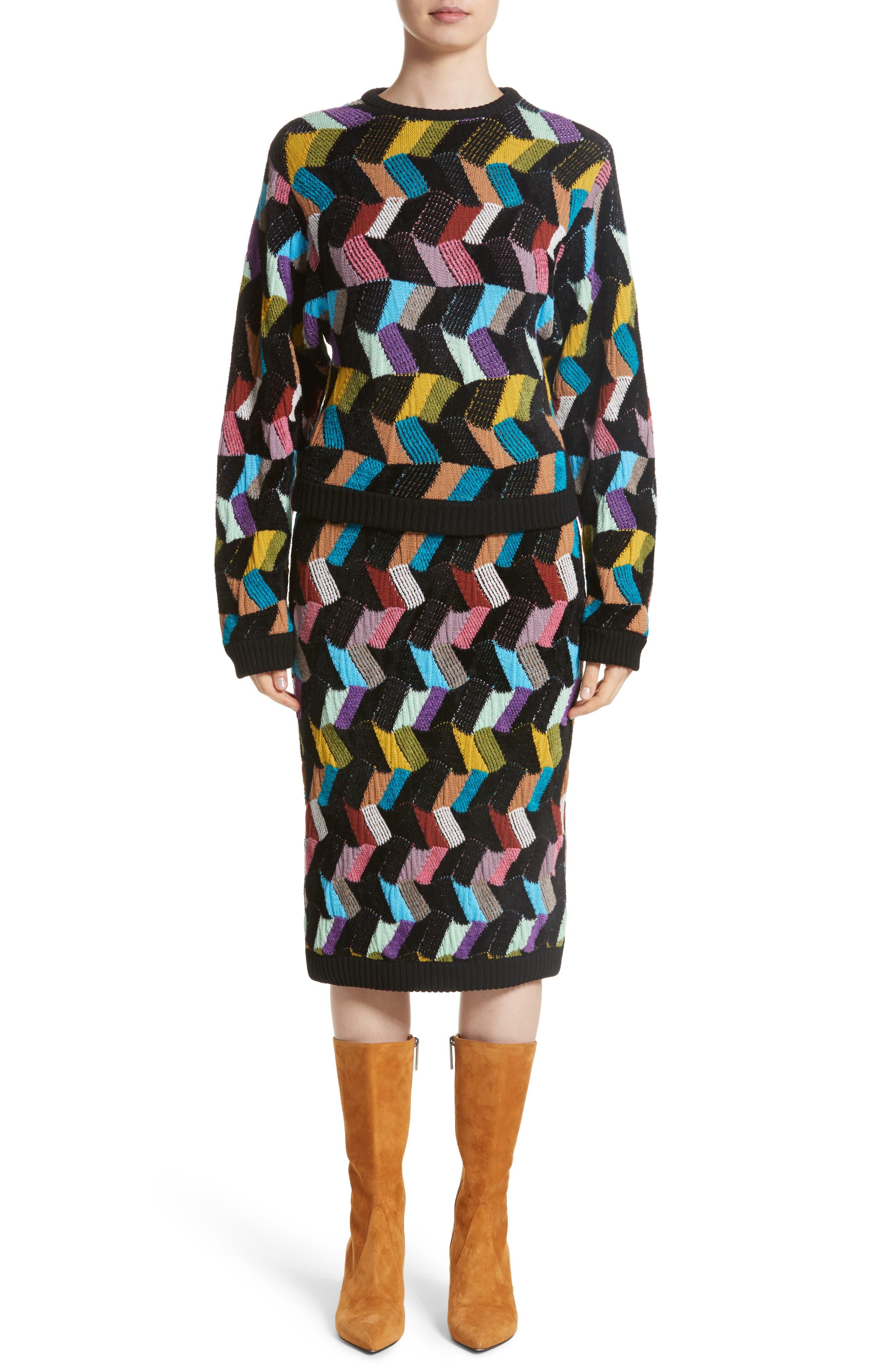 Alternate Image 7  - Missoni Multi Knit Pencil Skirt
