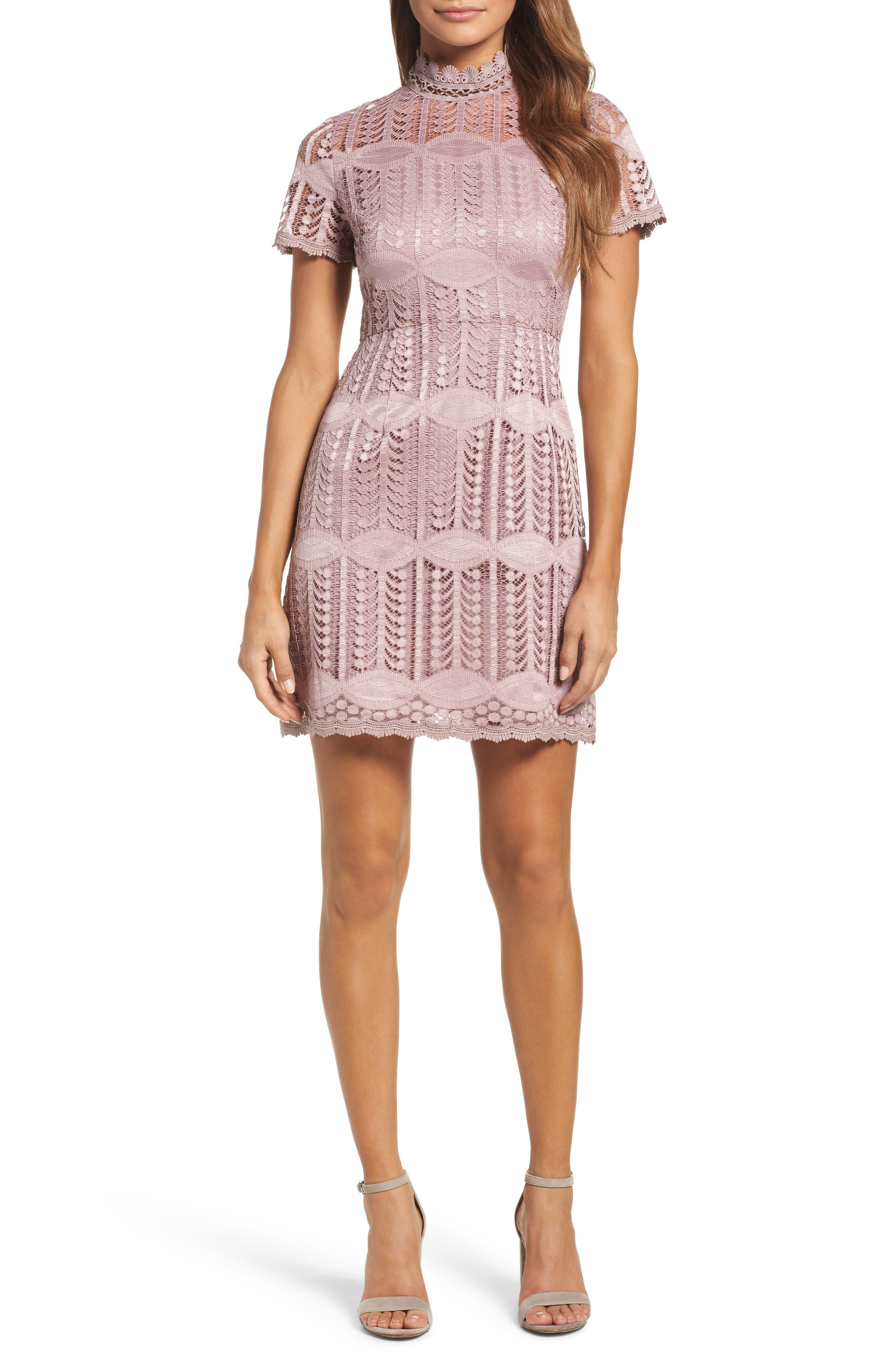 NSR Mock Neck Lace Dress