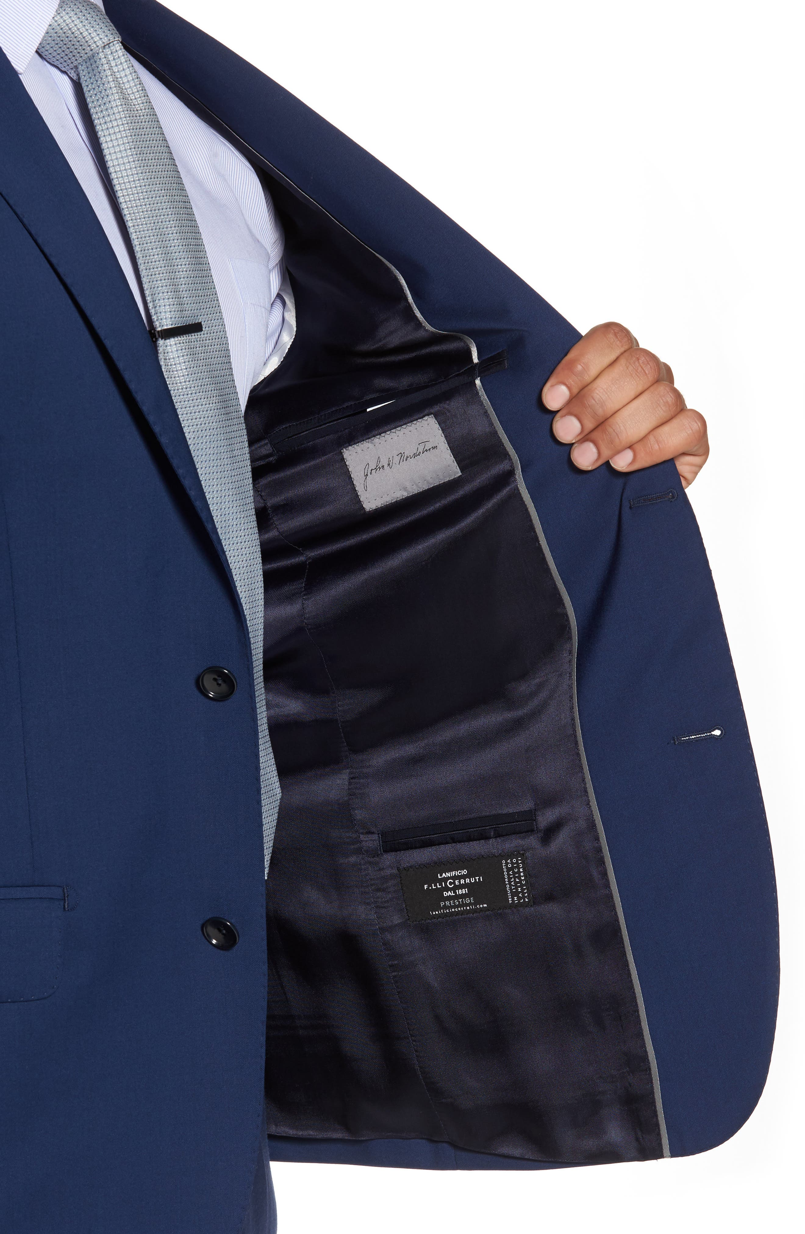 Classic Fit Solid Wool Suit,                             Alternate thumbnail 4, color,                             High Blue