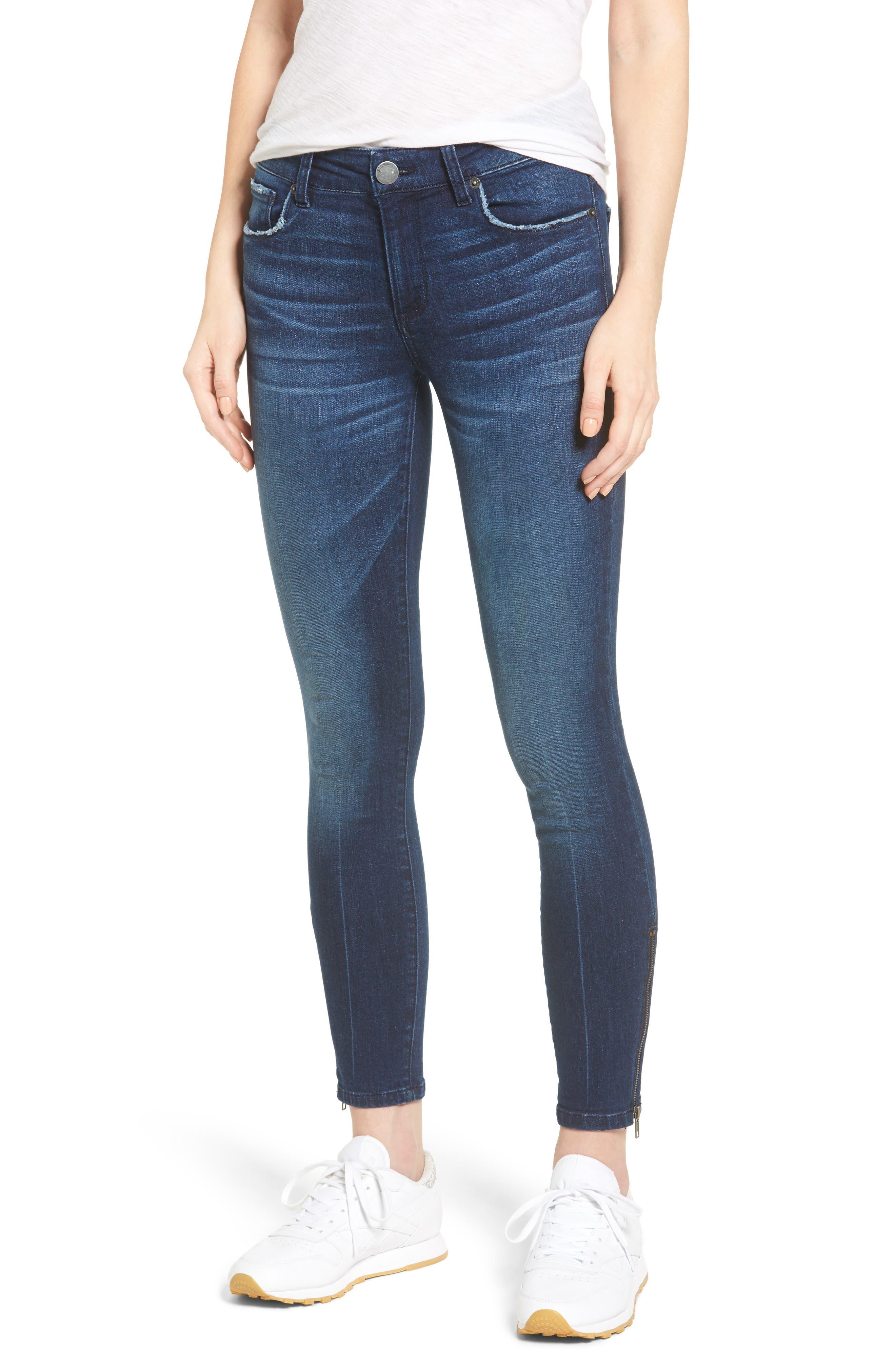 Alternate Image 1 Selected - STS Blue Emma Ankle Zip Skinny Jeans (Groveland)