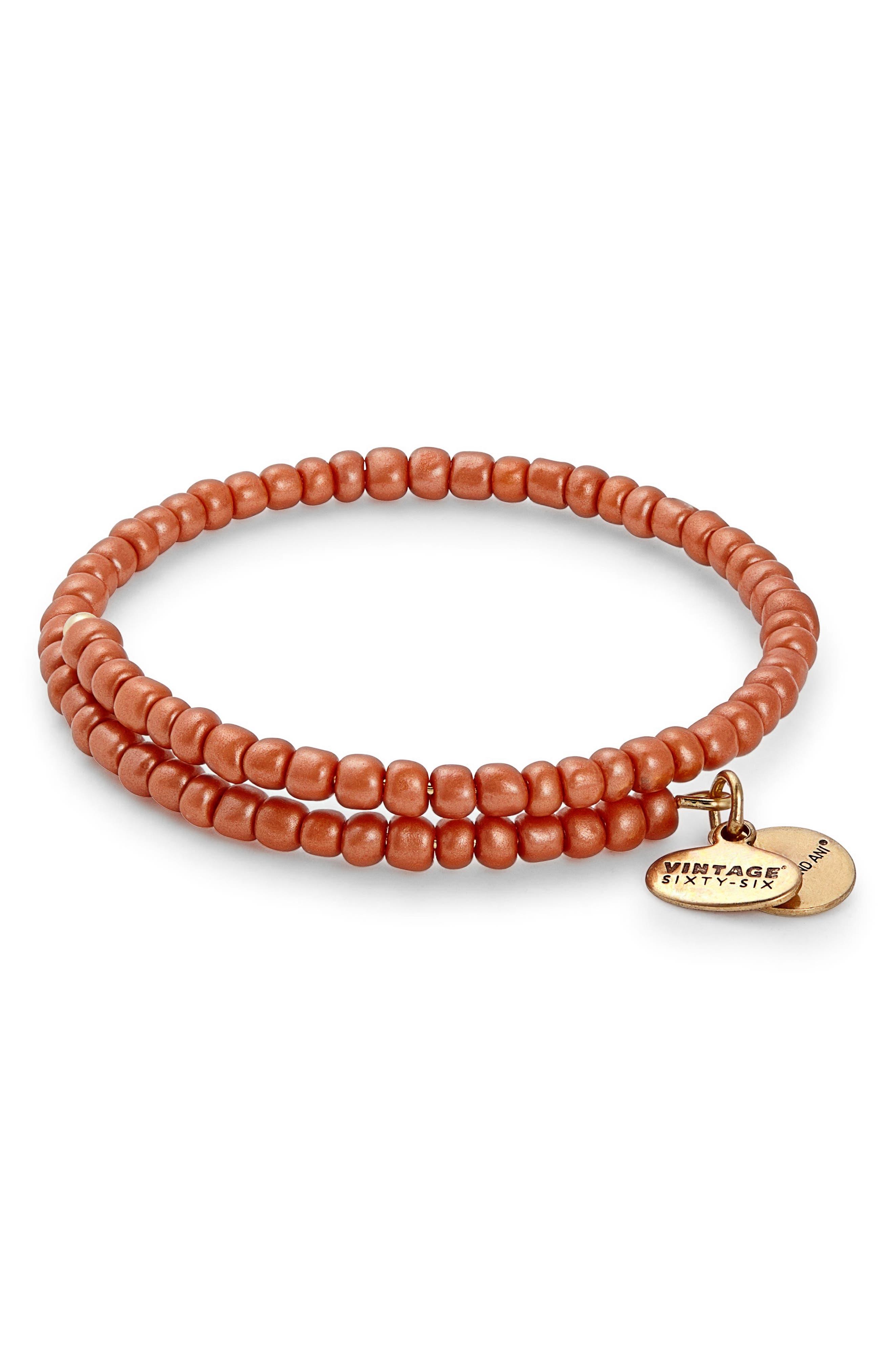 Primal Spirit Wrap Bracelet,                             Main thumbnail 1, color,                             Orange/ Gold