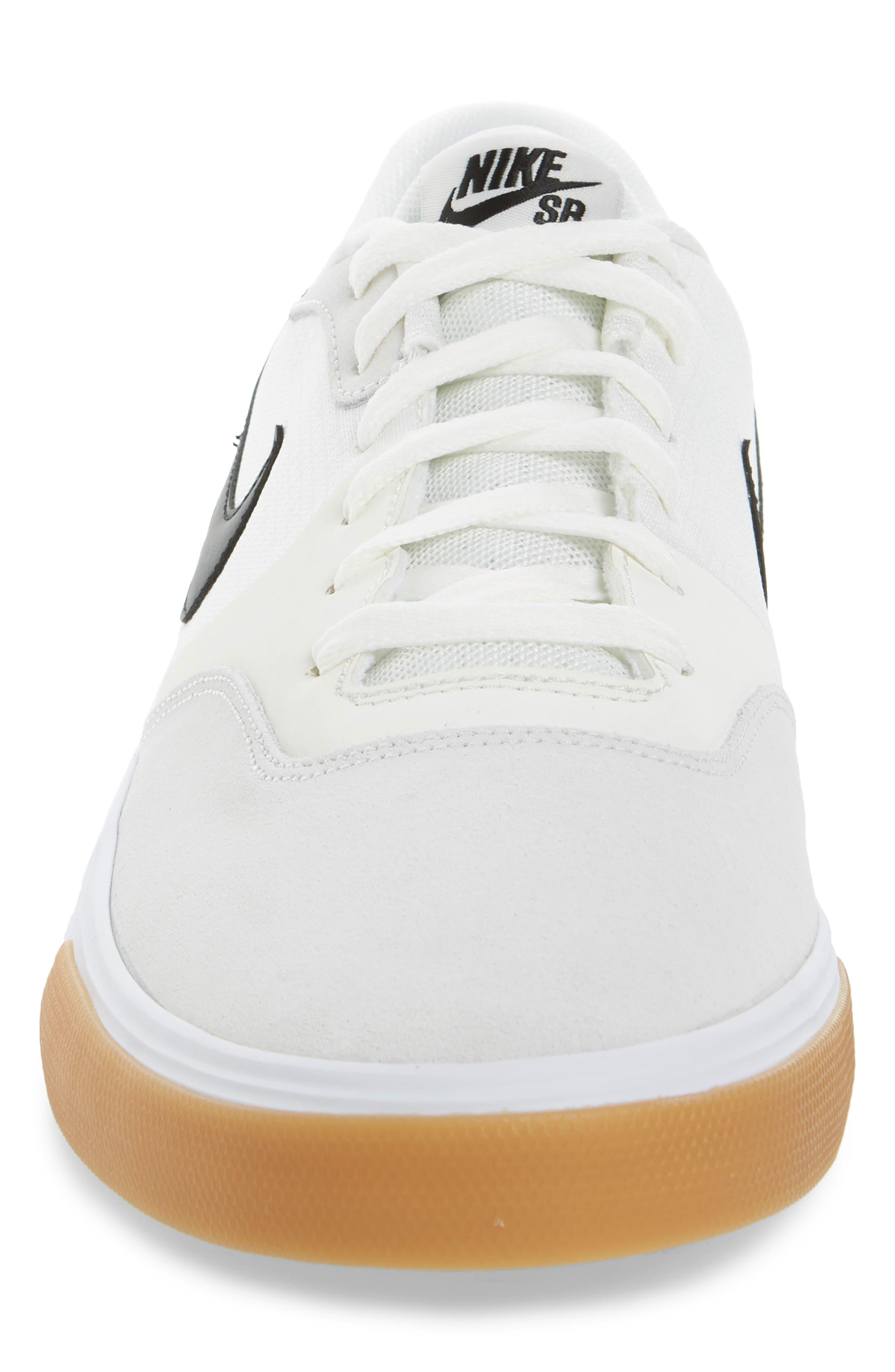 SB Paul Rodriguez 9 VR Skateboarding Sneaker,                             Alternate thumbnail 4, color,                             White/ Black/ Black