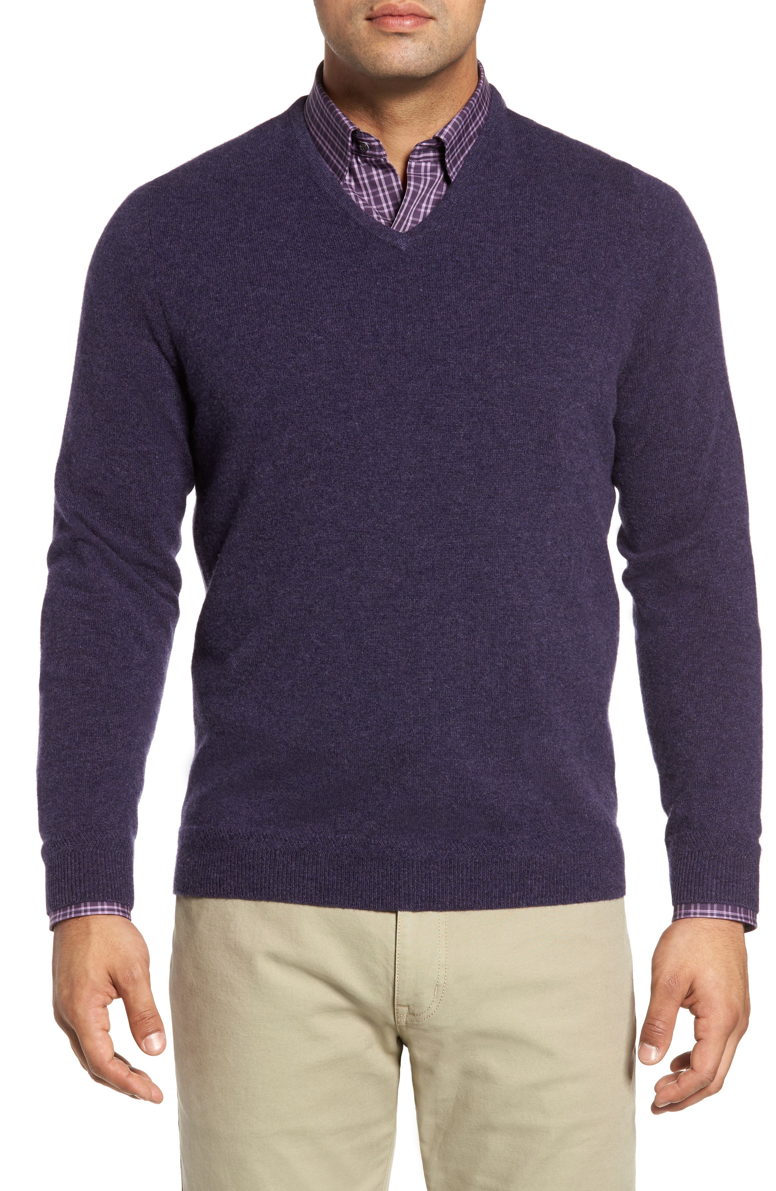 John W. Nordstrom Cashmere V-Neck Sweater (Regular & Tall)