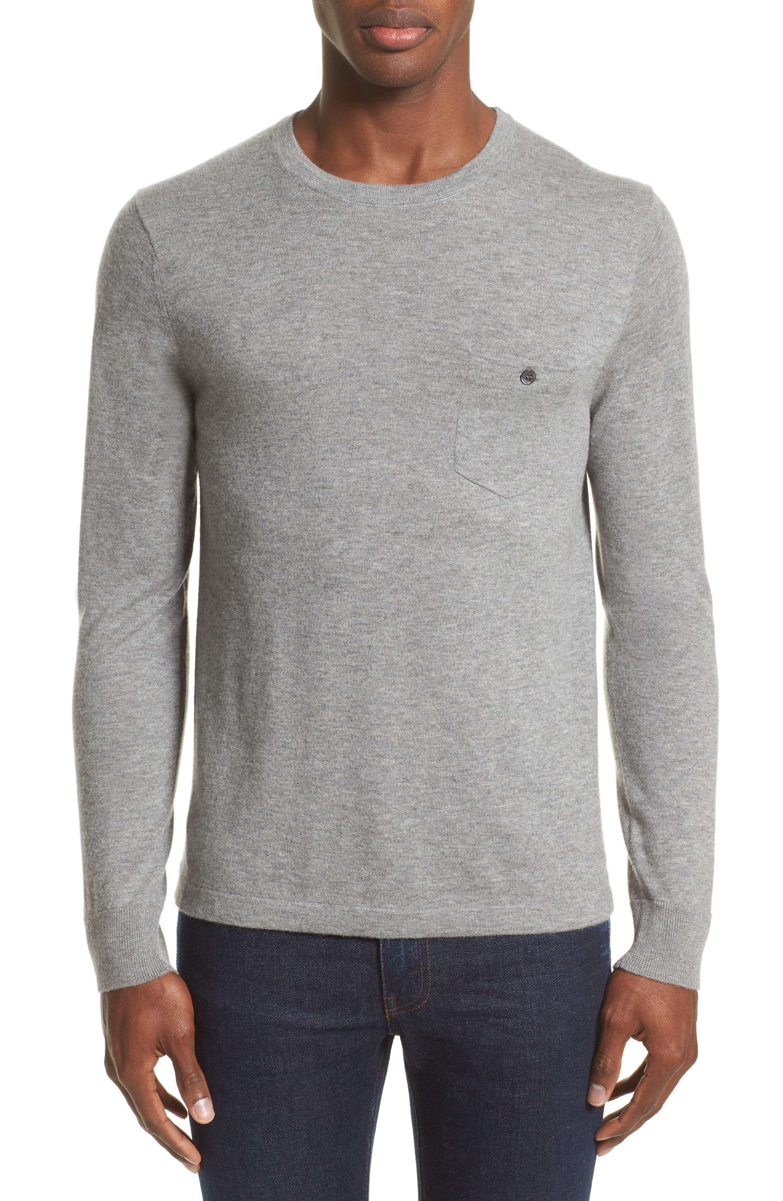 Cashmere Pocket T-Shirt,                             Main thumbnail 1, color,                             Grey Heather