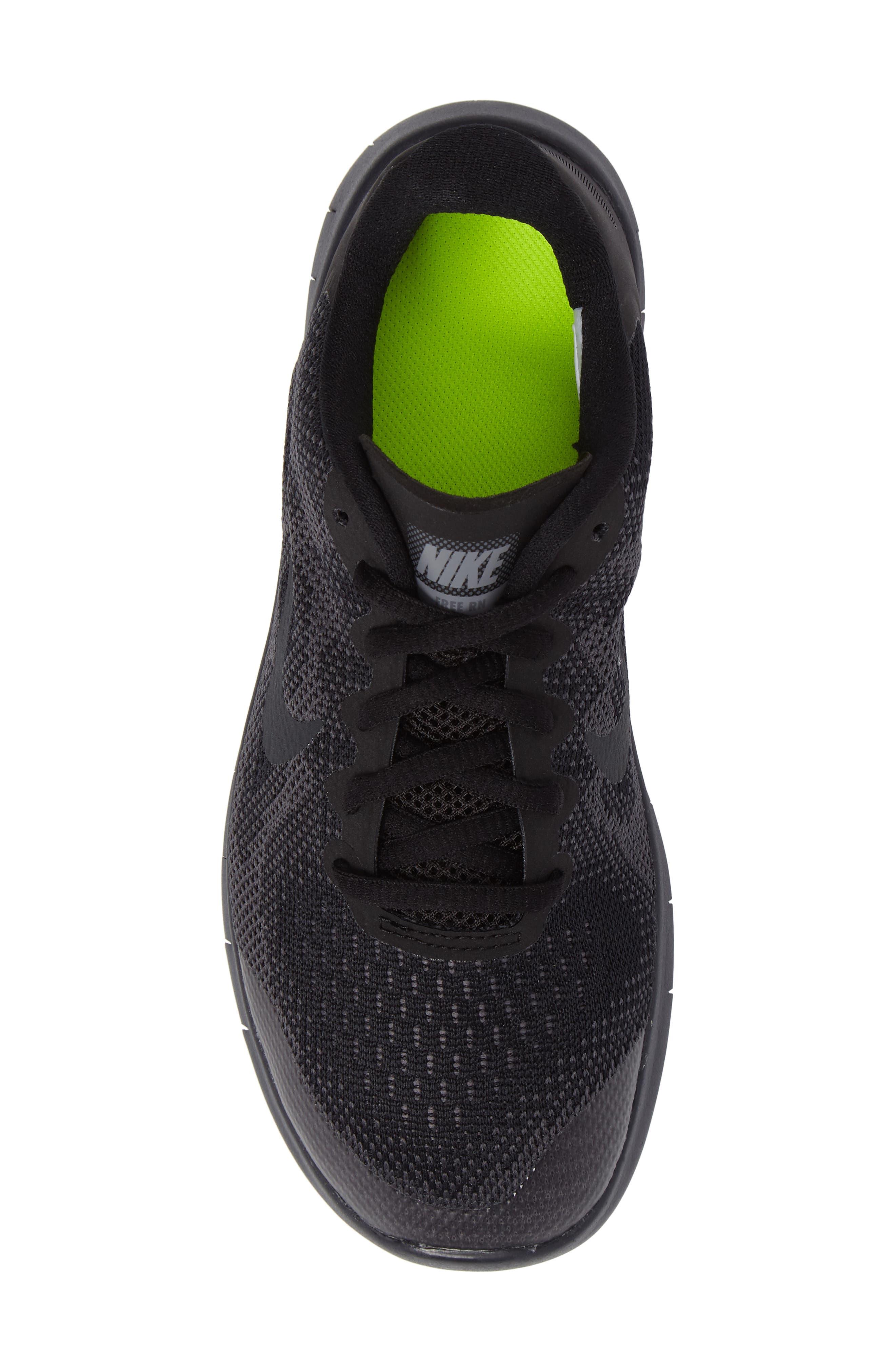 Free RN Running Shoe,                             Alternate thumbnail 5, color,                             Black/ Anthracite/ Dark Grey