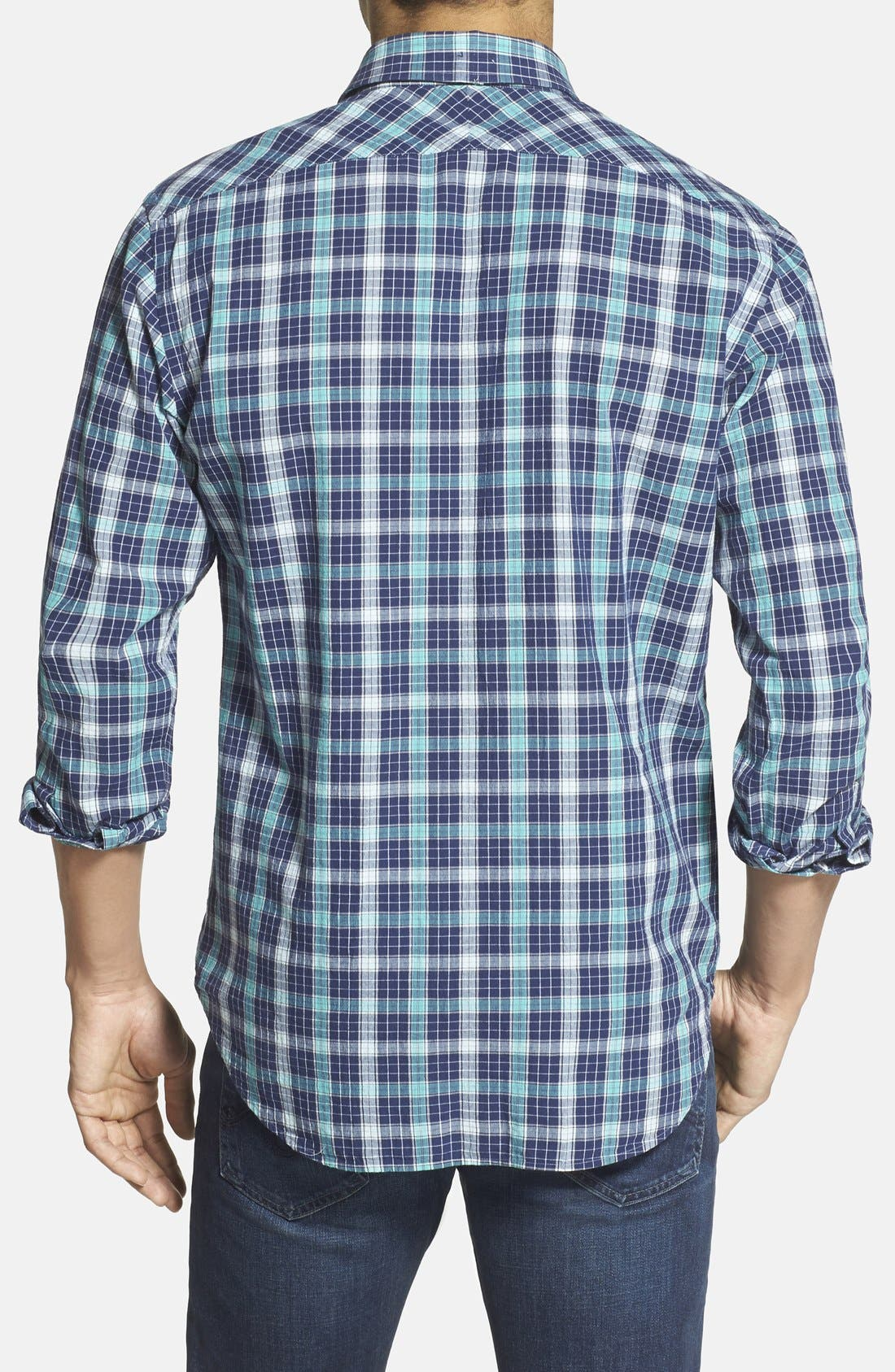 Alternate Image 2  - Billy Reid 'John T' Standard Fit Plaid Sport Shirt
