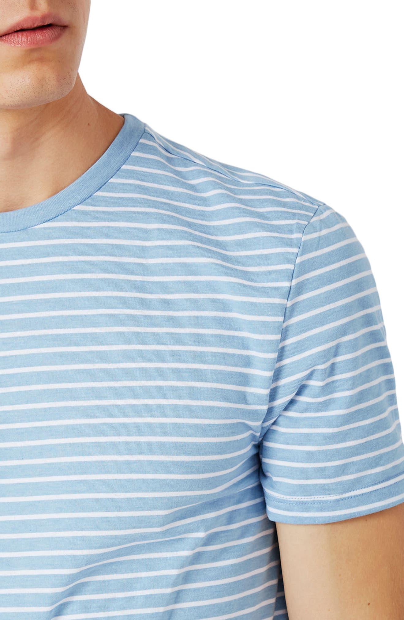 Alternate Image 4  - Topman Crewneck Stripe T-Shirt