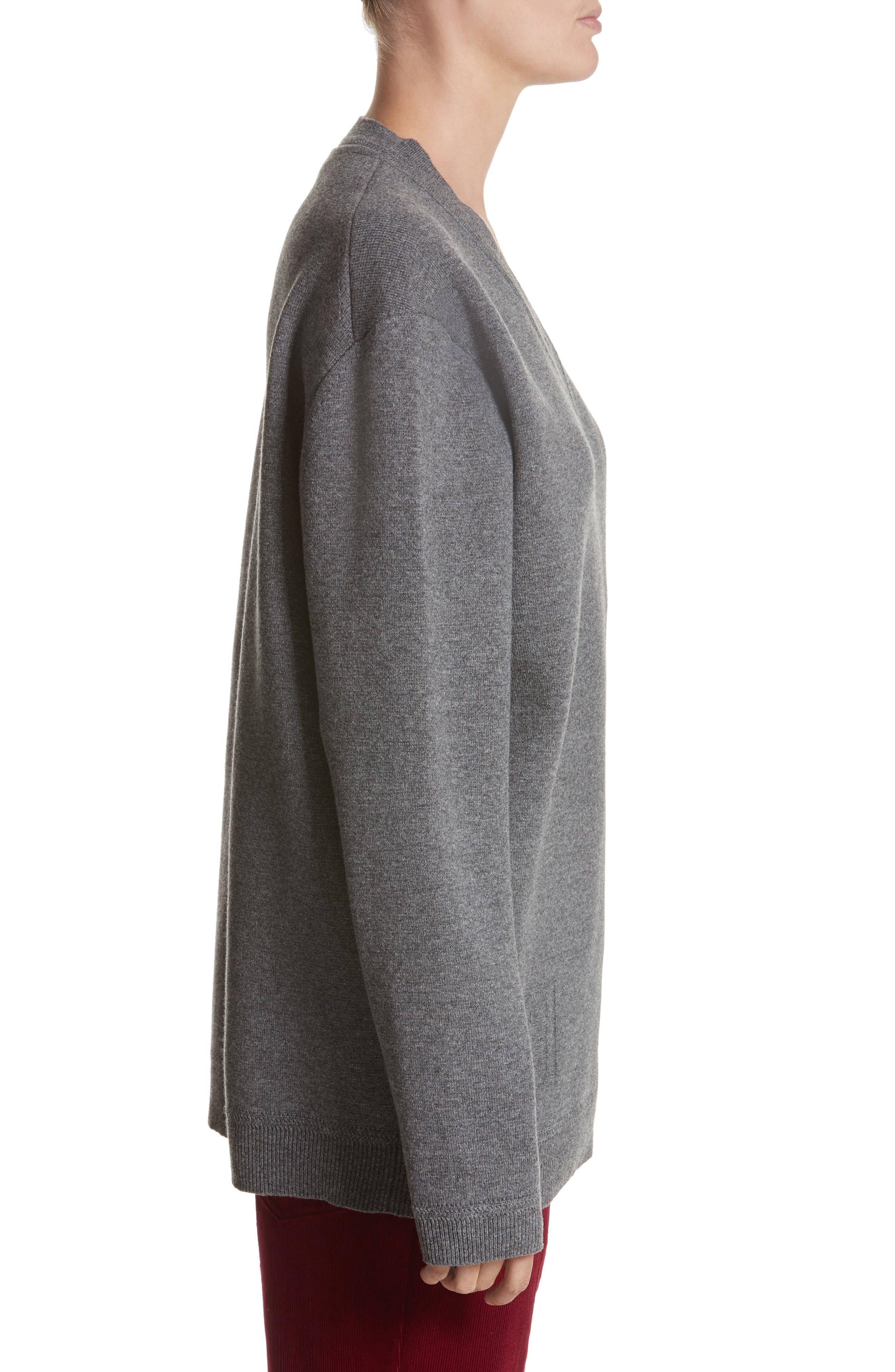 Wool & Cashmere Sweater,                             Alternate thumbnail 6, color,                             Grey Melange